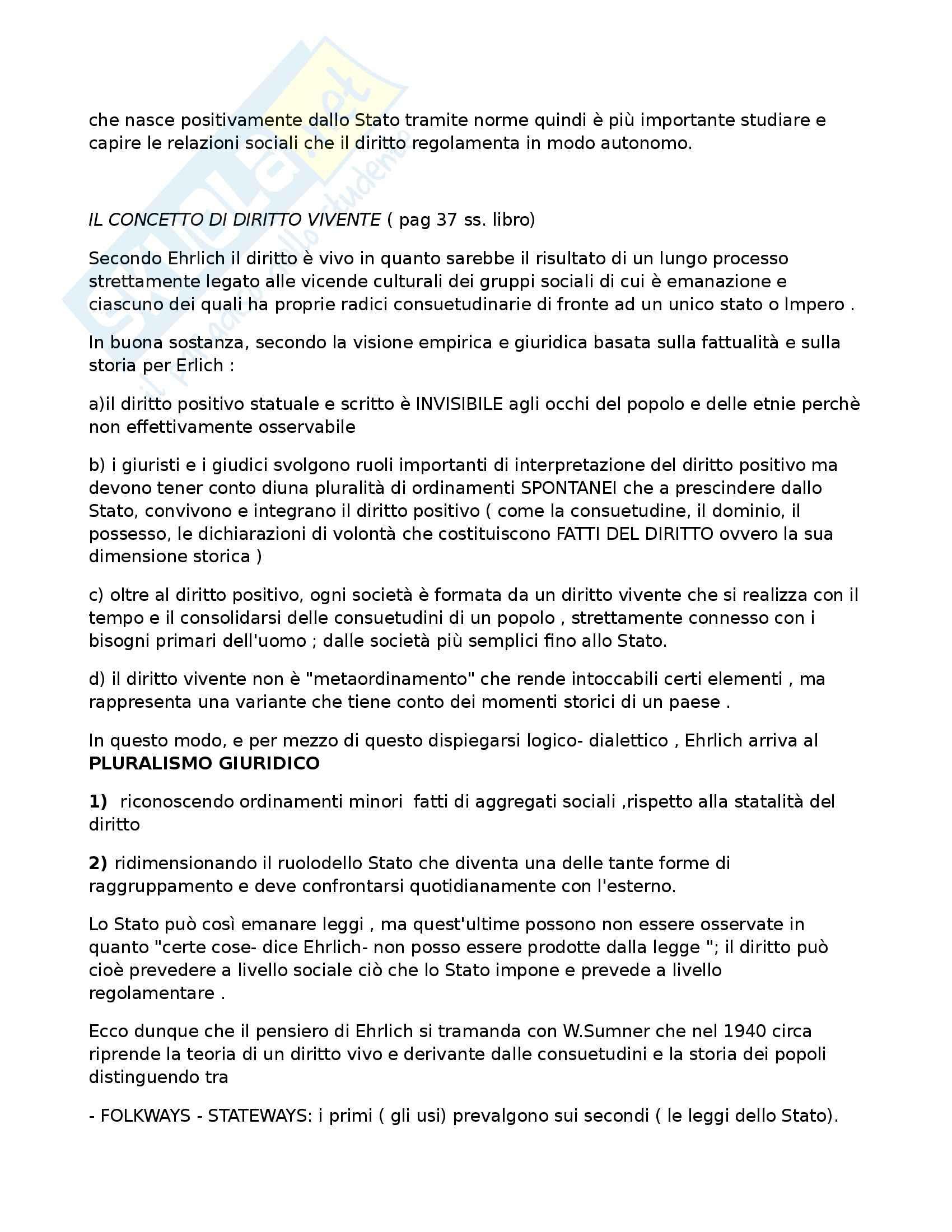 Riassunto esame Sociologia del diritto, prof. Febbrajo, libro consigliato Sociologia del diritto, Concetti e problemi, Febbrajo Pag. 2