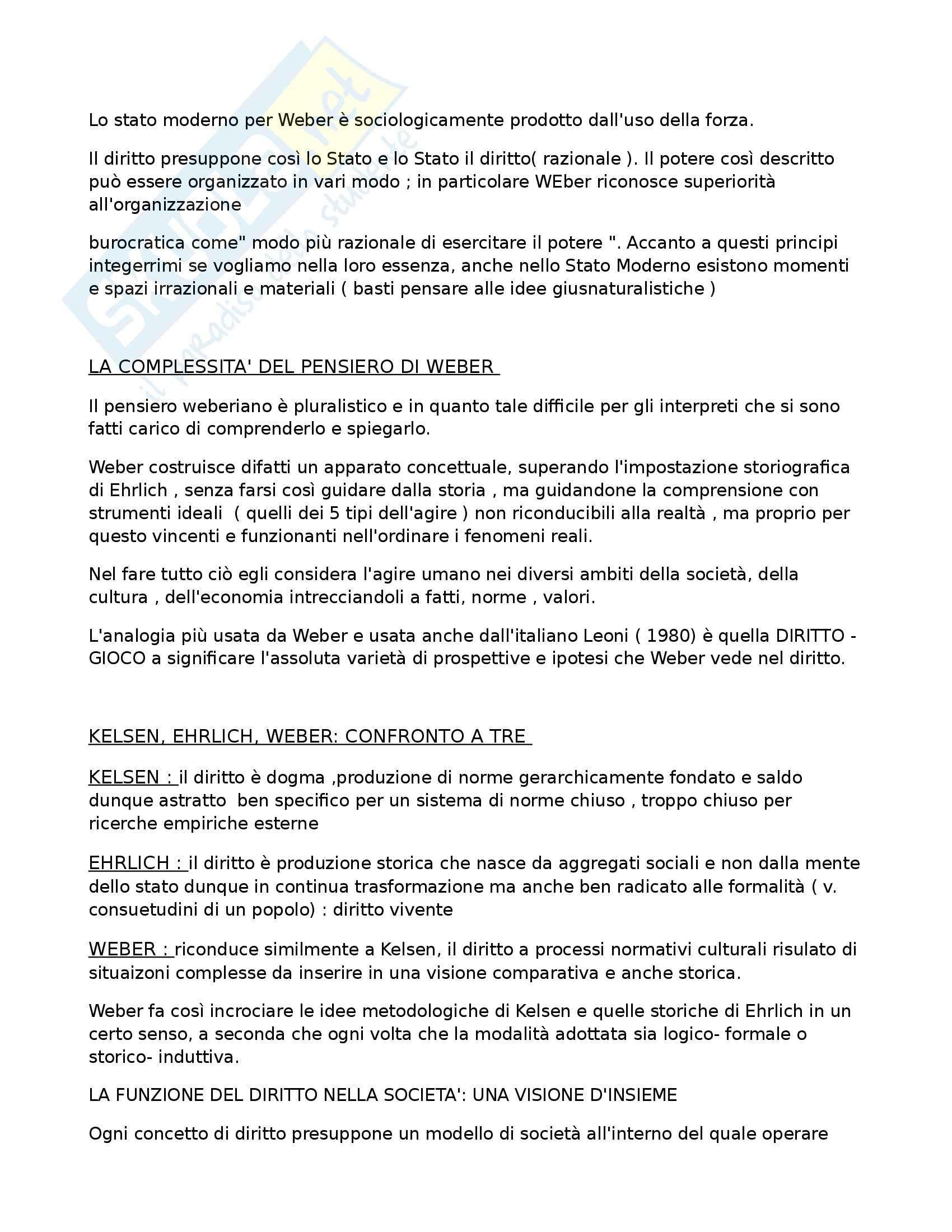 Riassunto esame Sociologia del diritto, prof. Febbrajo, libro consigliato Sociologia del diritto, Concetti e problemi, Febbrajo Pag. 6