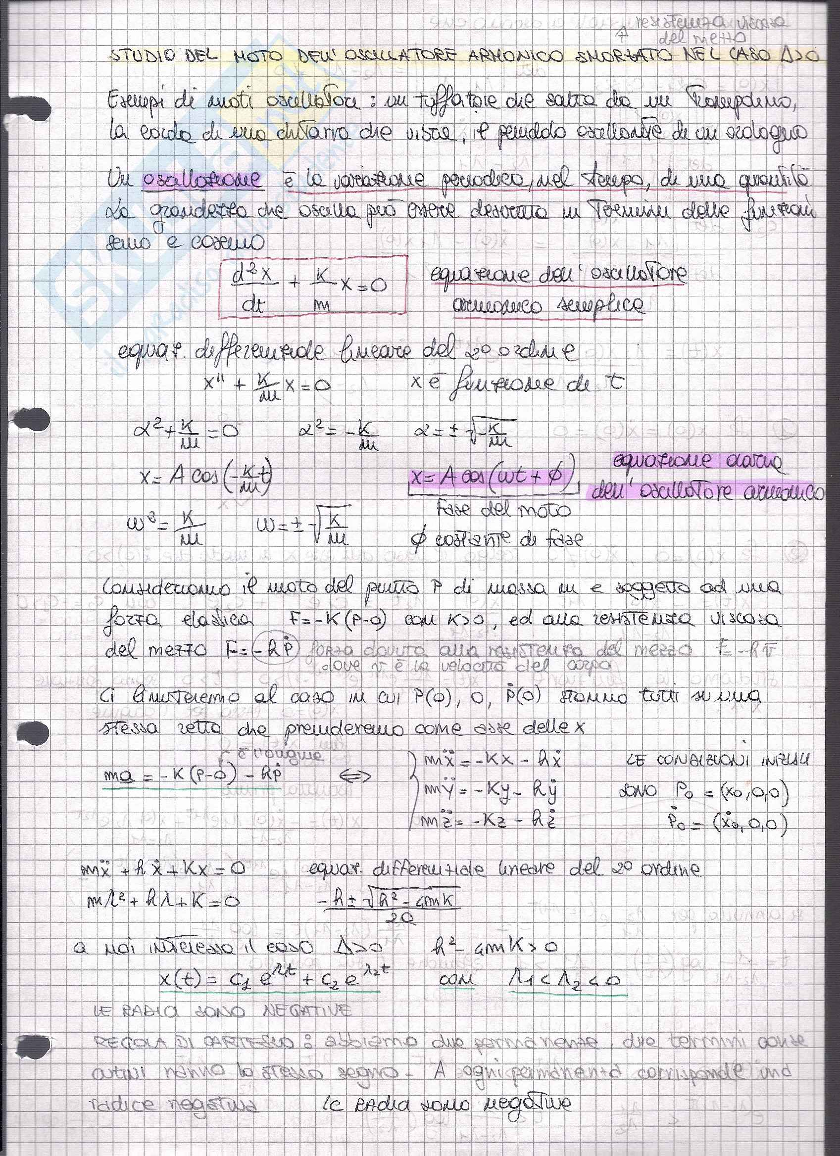 Appunti Meccanica Razionale e Esercitazioni