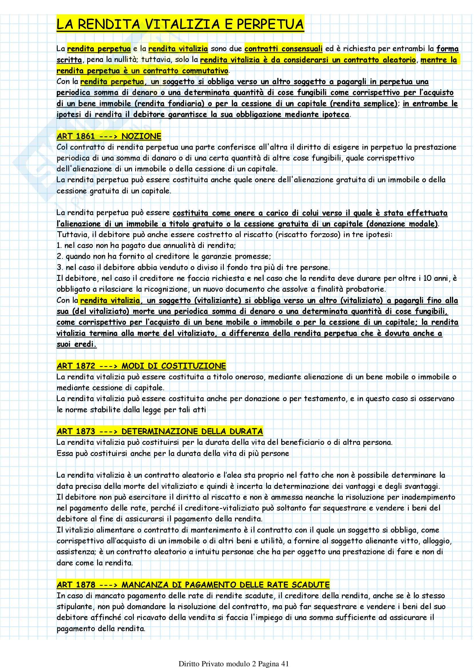 Diritto Privato modulo 2 Pag. 41