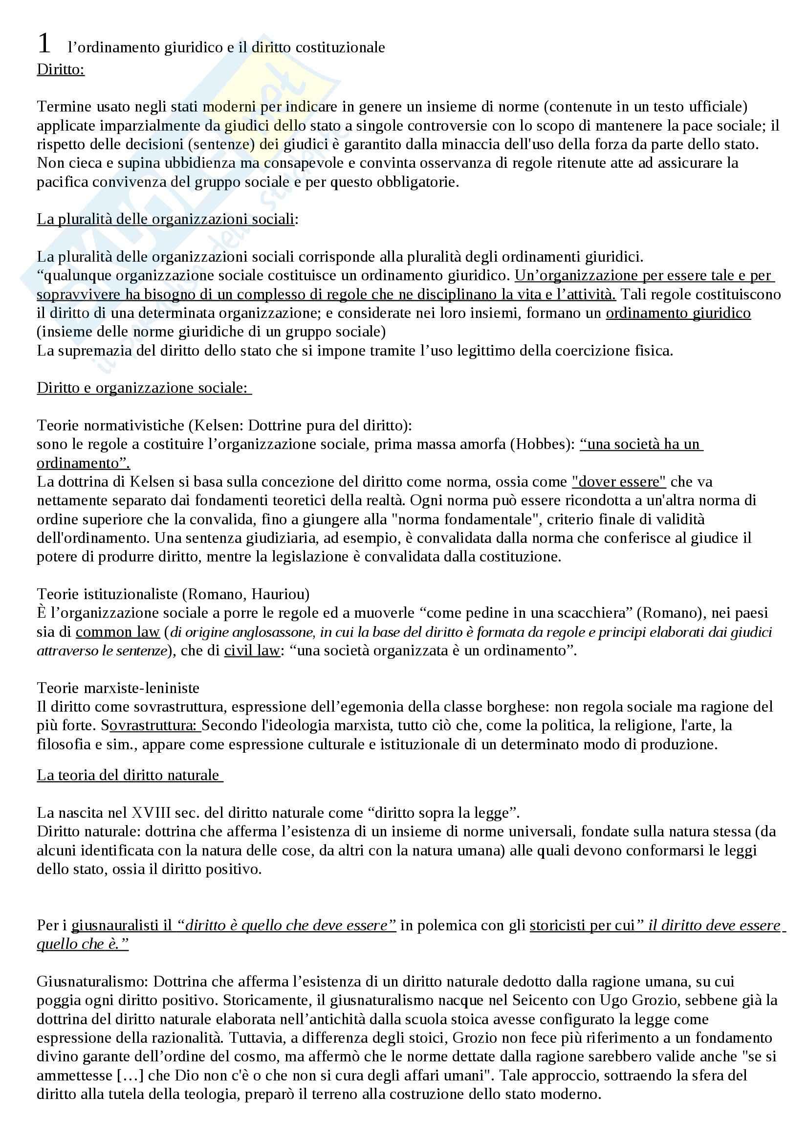 Riassunto esame Diritto pubblico, prof. Piraino, libro consigliato Diritto pubblico, Barbera, Fusaro