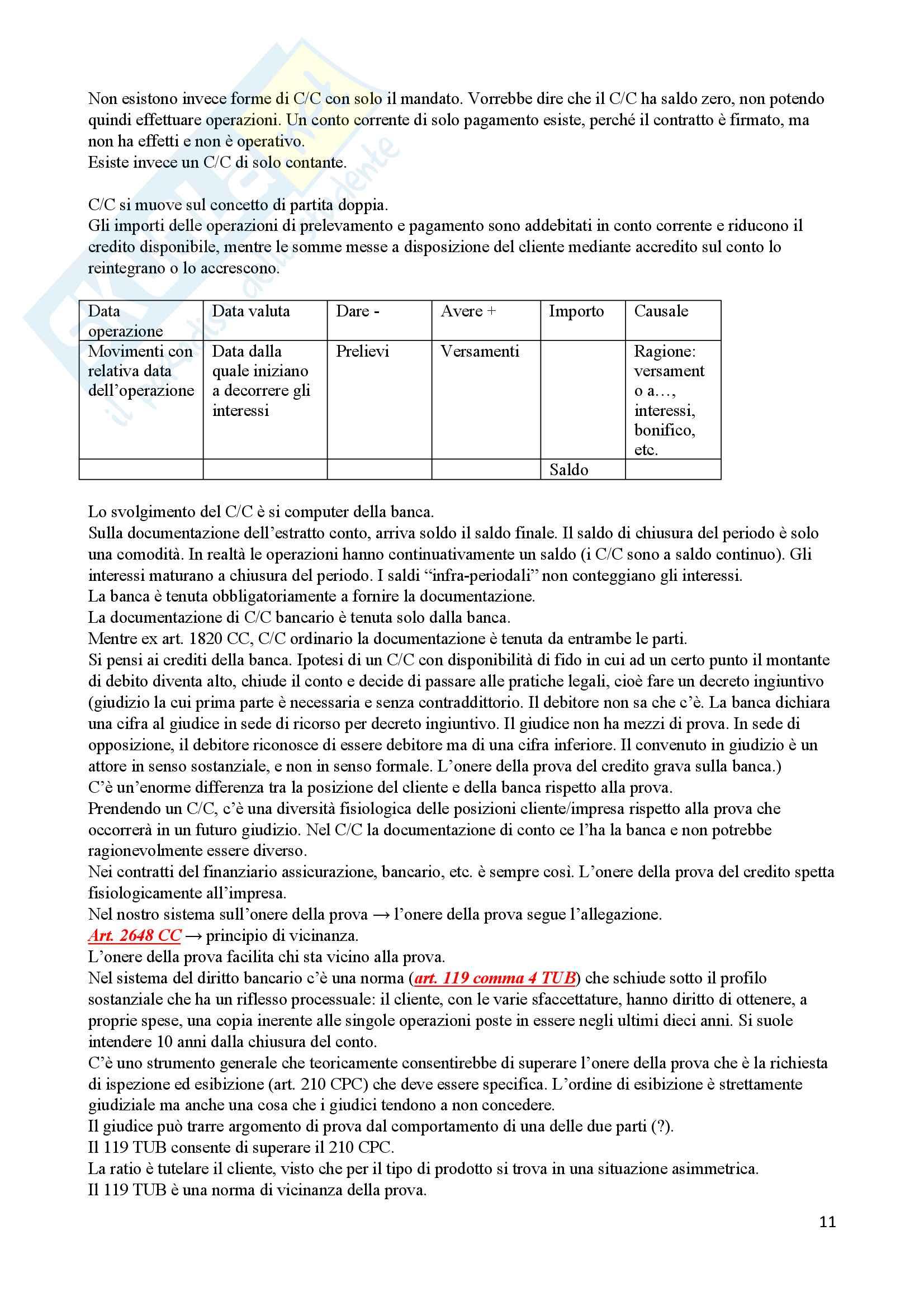Appunti di Diritto Bancario Pag. 11