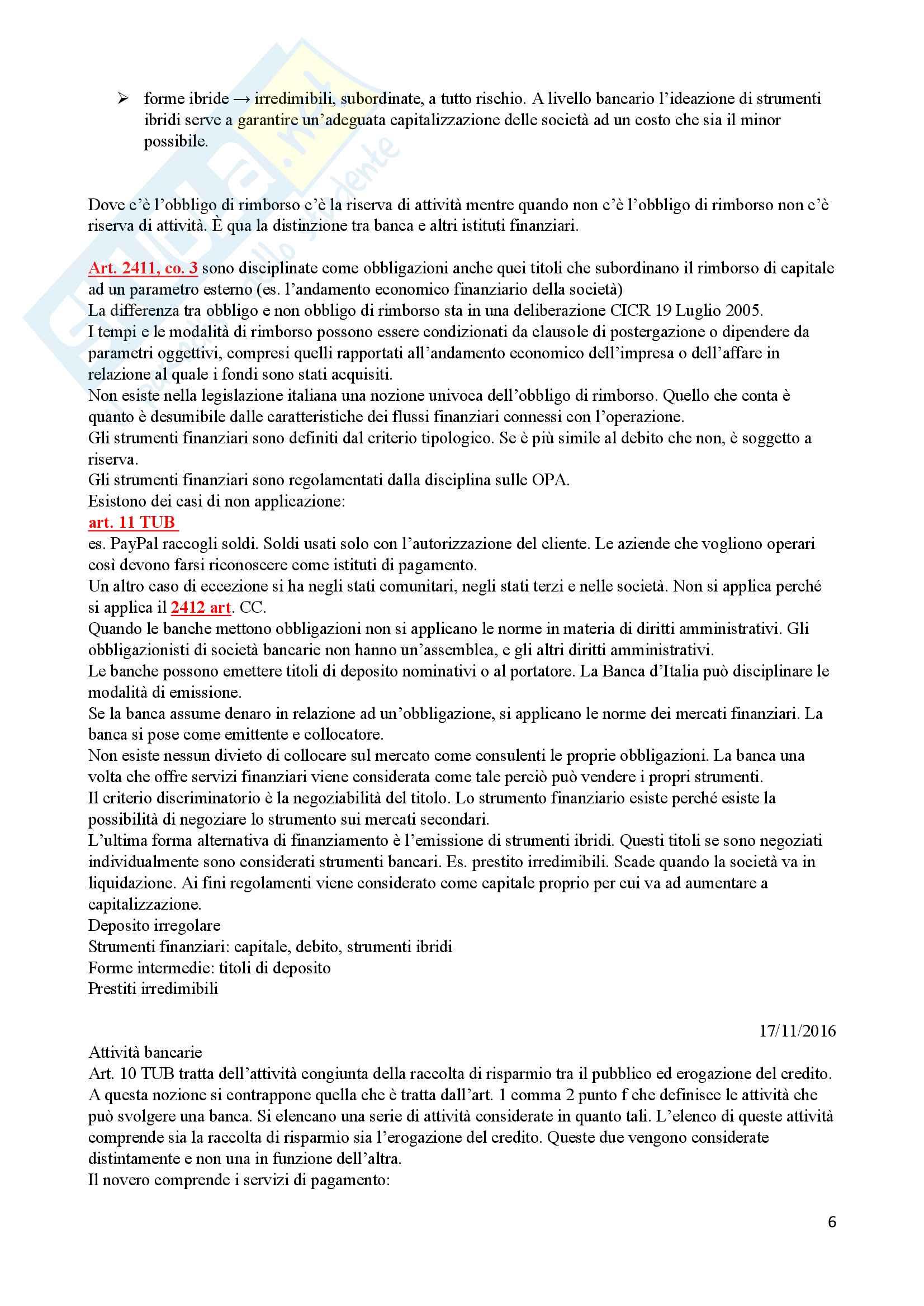 Appunti di Diritto Bancario Pag. 6