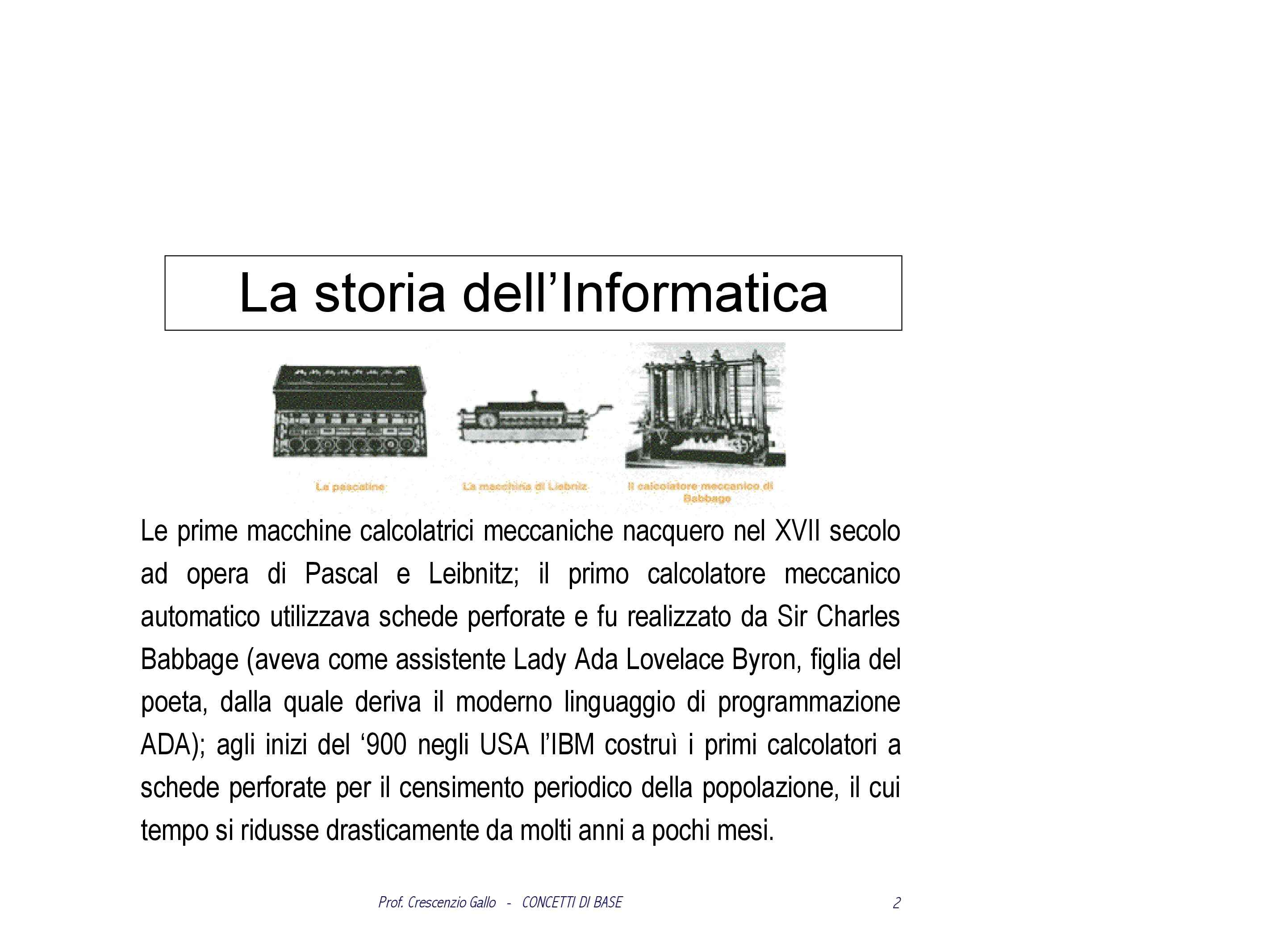 Informatica - concetti di base in informatica - Dispensa
