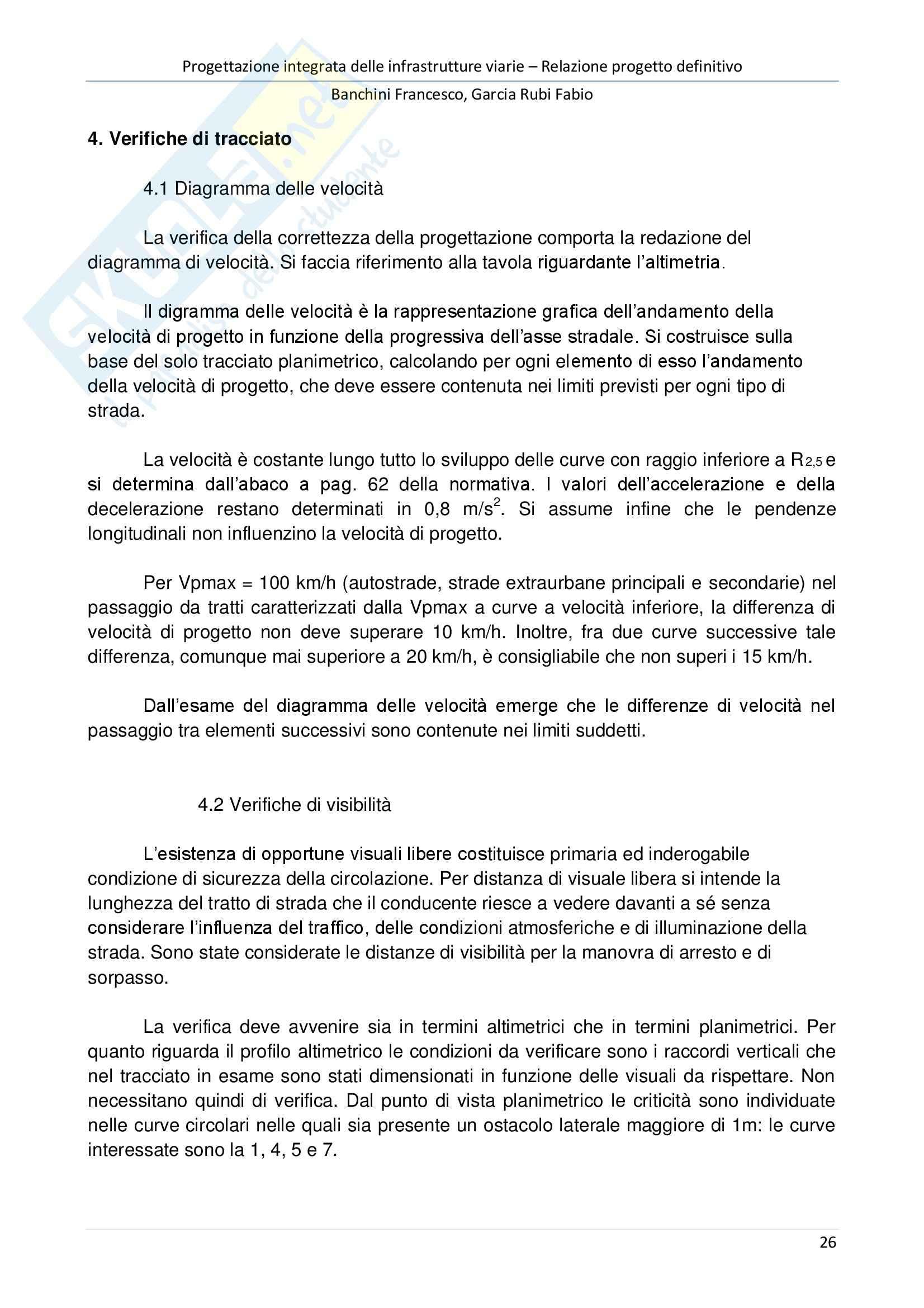 """Relazione del progetto definitivo, Bypass """"Cassia Cimina"""" Pag. 26"""