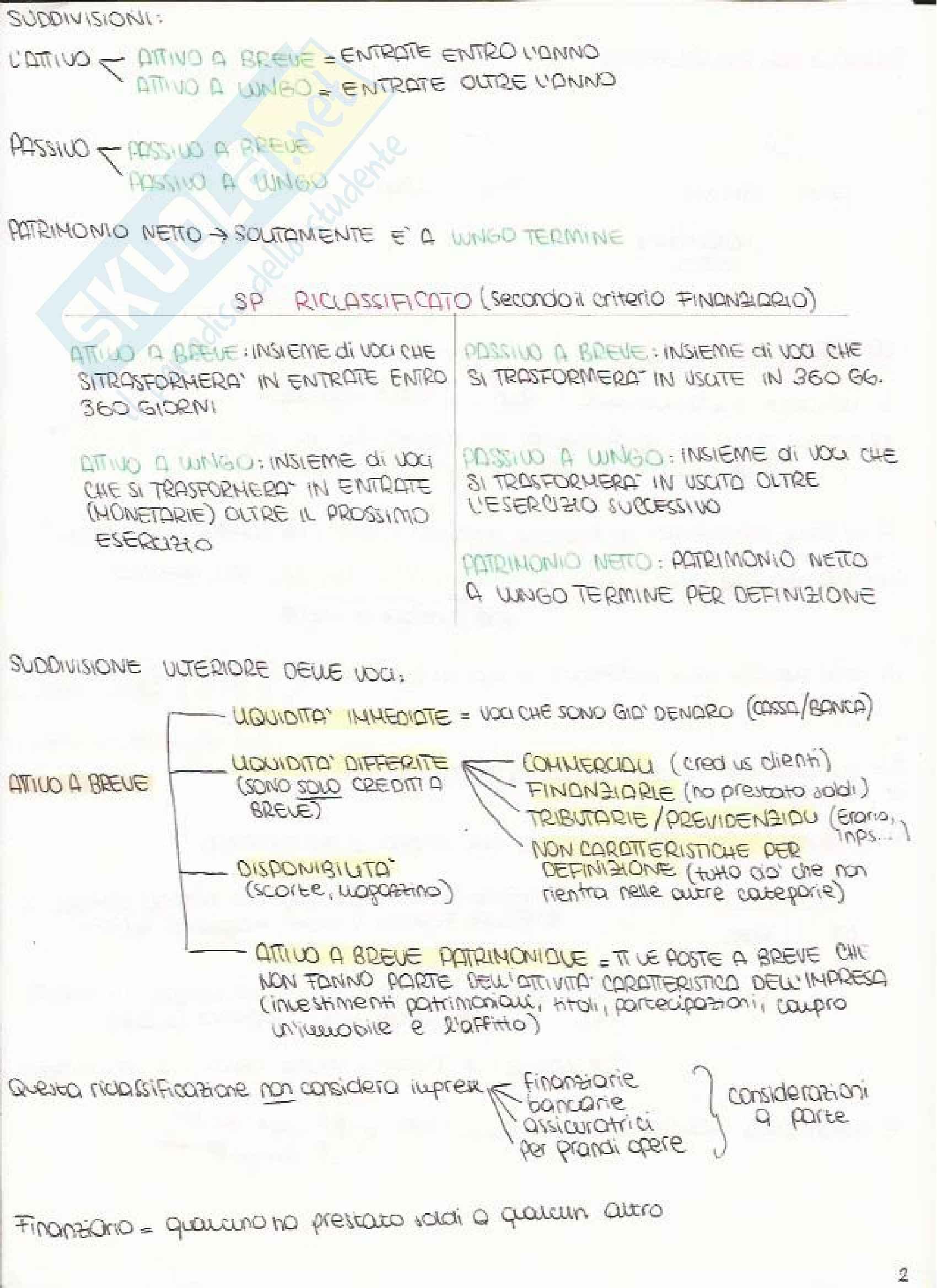 Bilancio e Analisi Economico Finanziaria - Appunti Pag. 2
