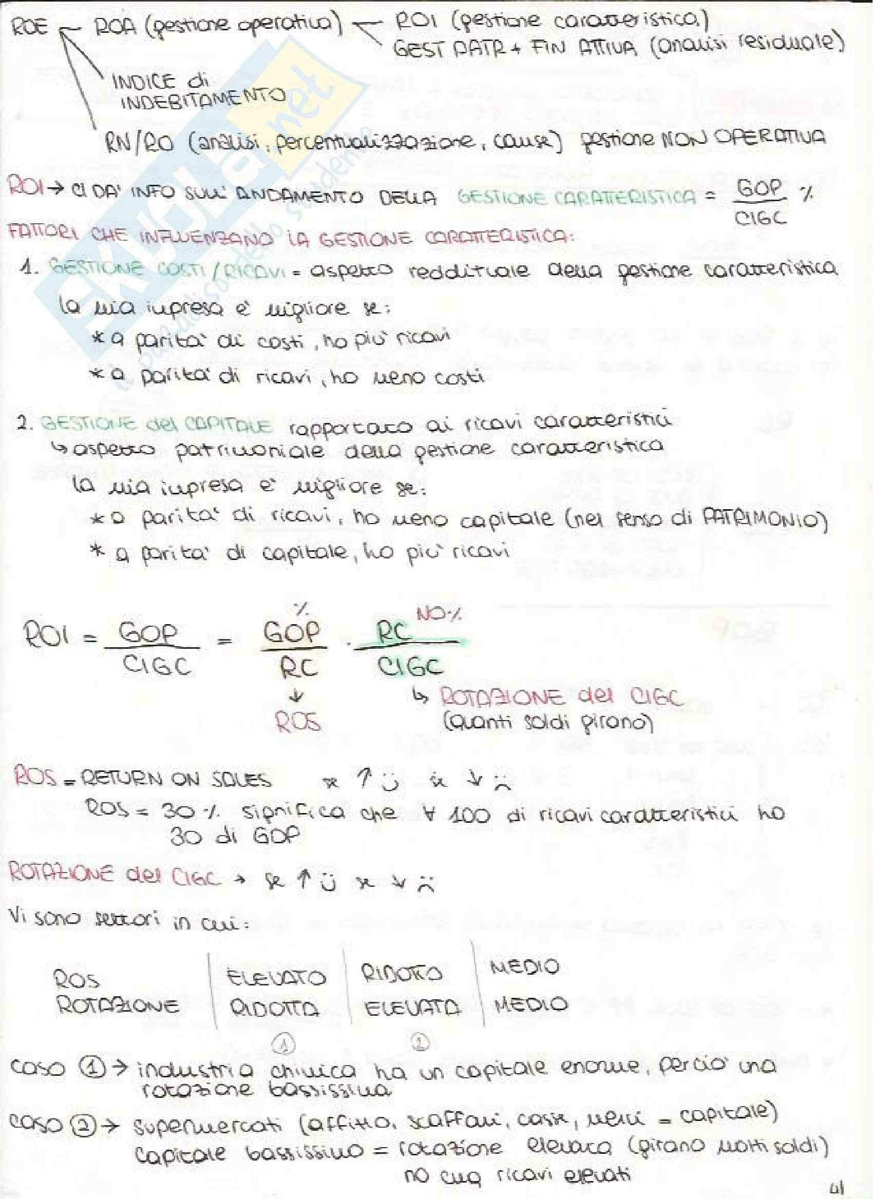 Bilancio e Analisi Economico Finanziaria - Appunti Pag. 41