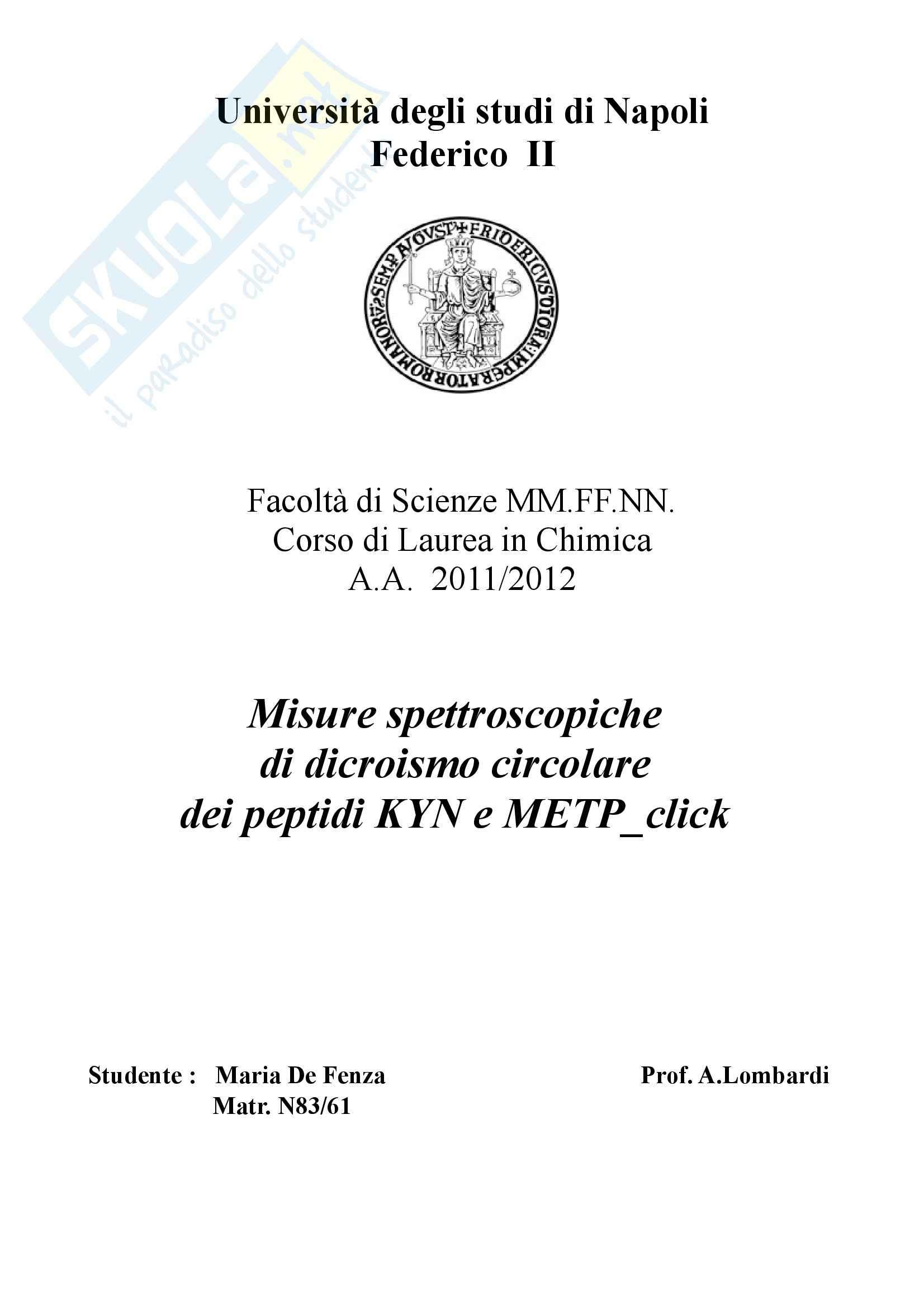 appunto A. Lombardi Chimica fisica