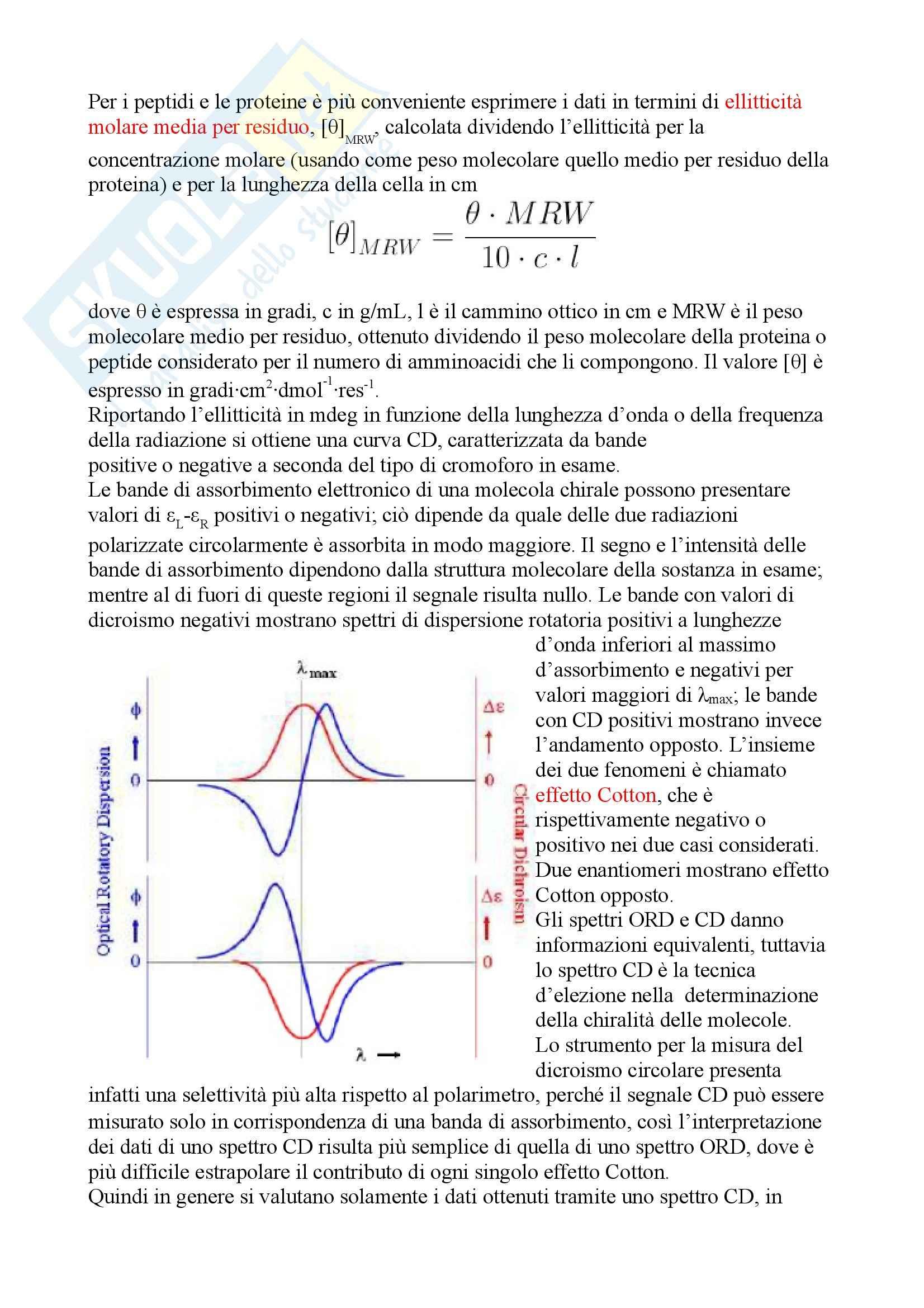 Chimica fisica - dicroismo circolare Pag. 6