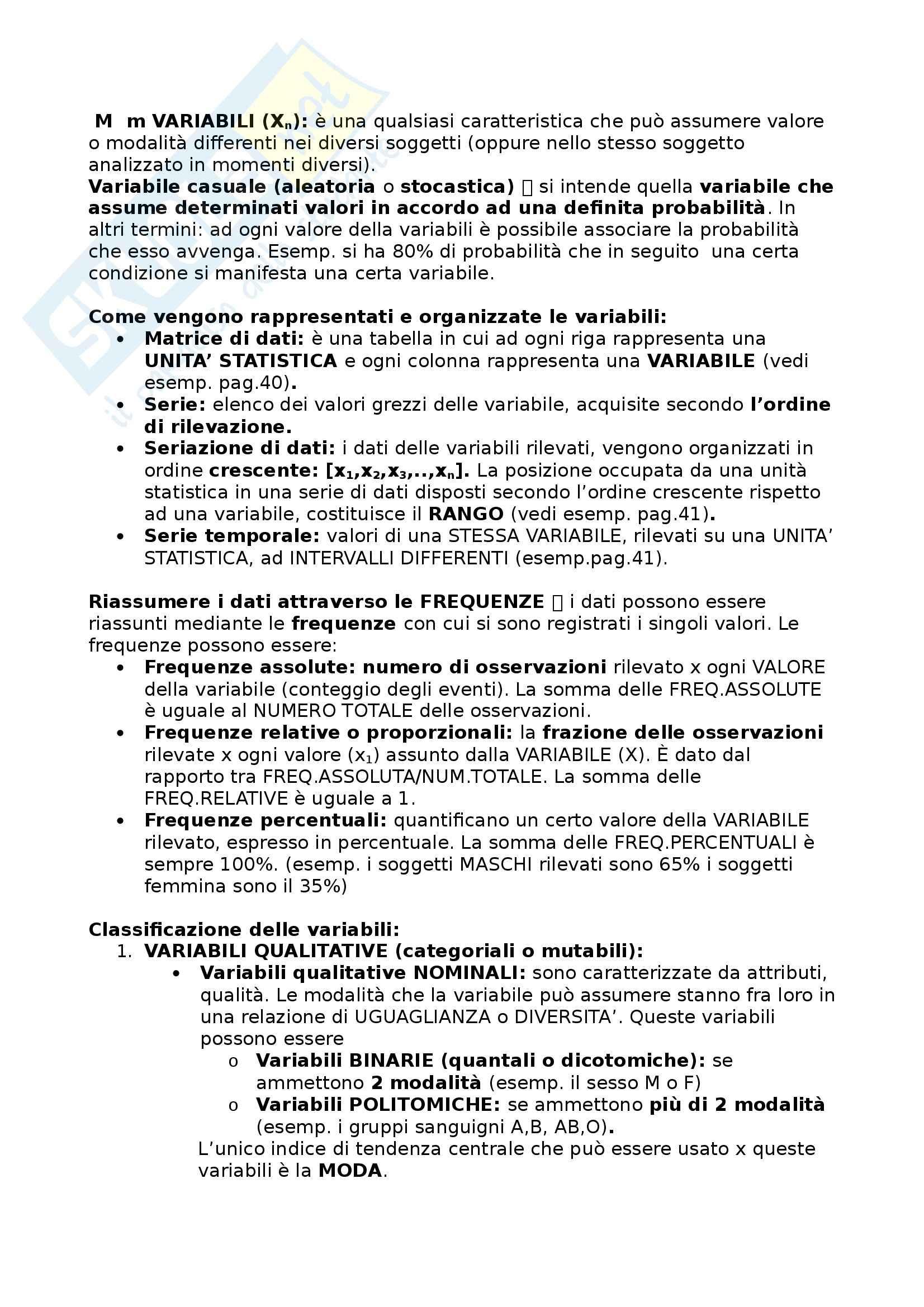 Statistica Medica - Appunti