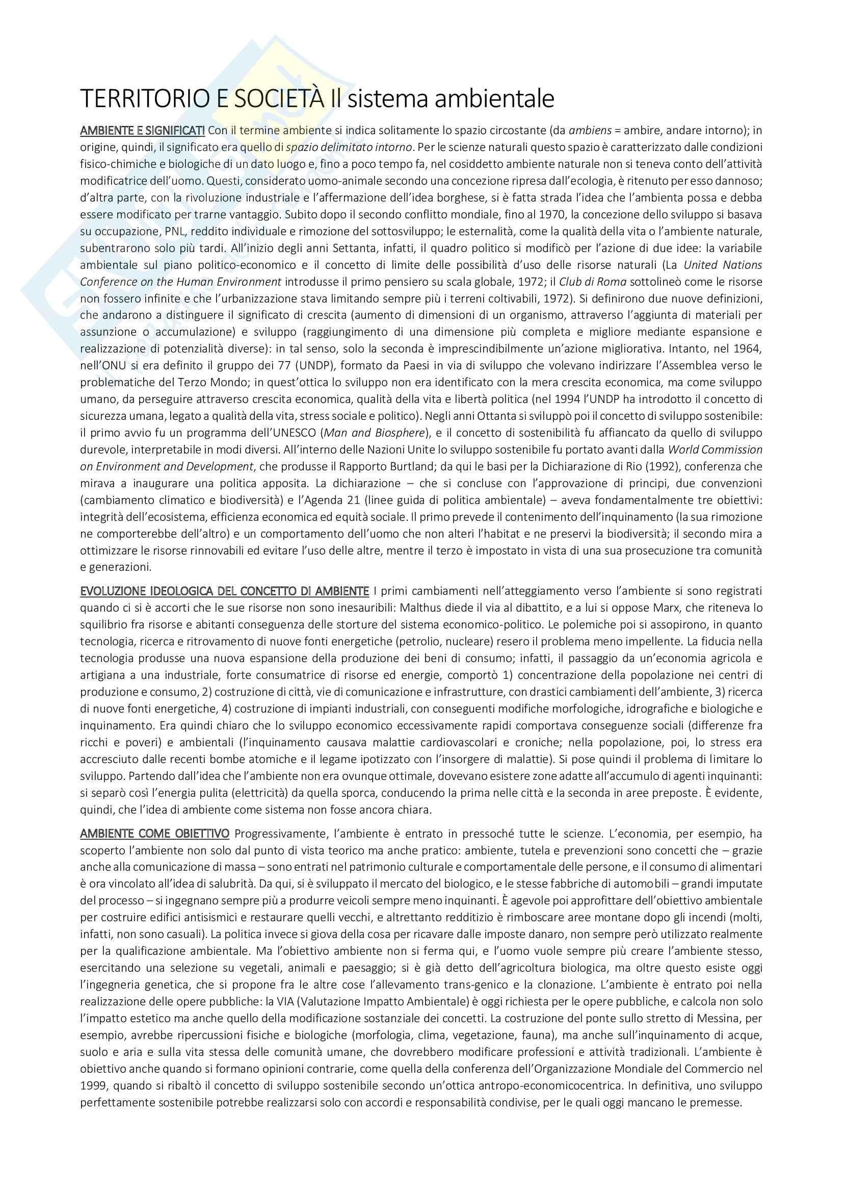 Riassunto esame Geografia, prof.ssa Incani, libro consigliato Linee tematiche di ricerca geografica di Cosimo Palagiano