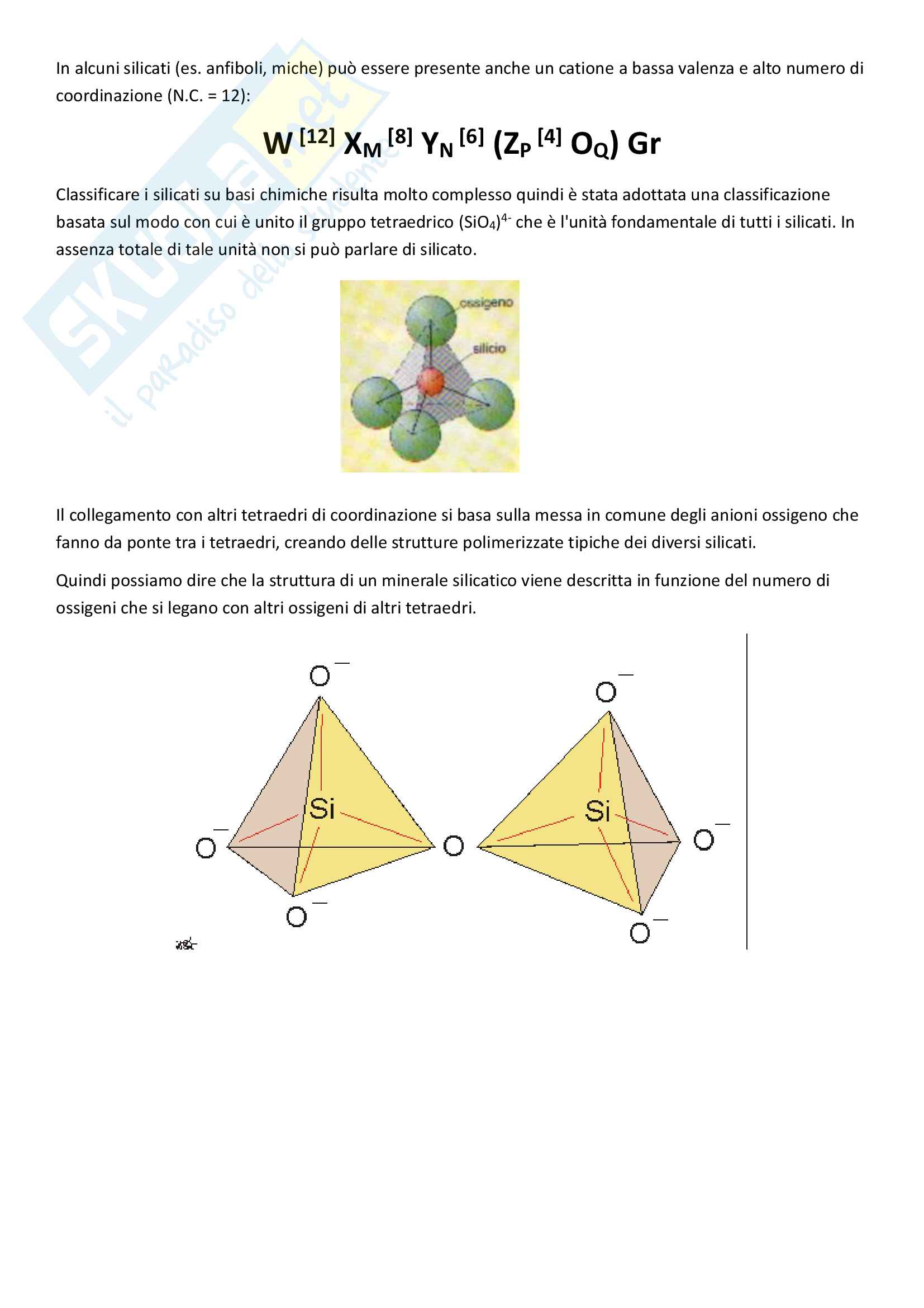 Classificazione dei minerali - Mineralogia Pag. 2