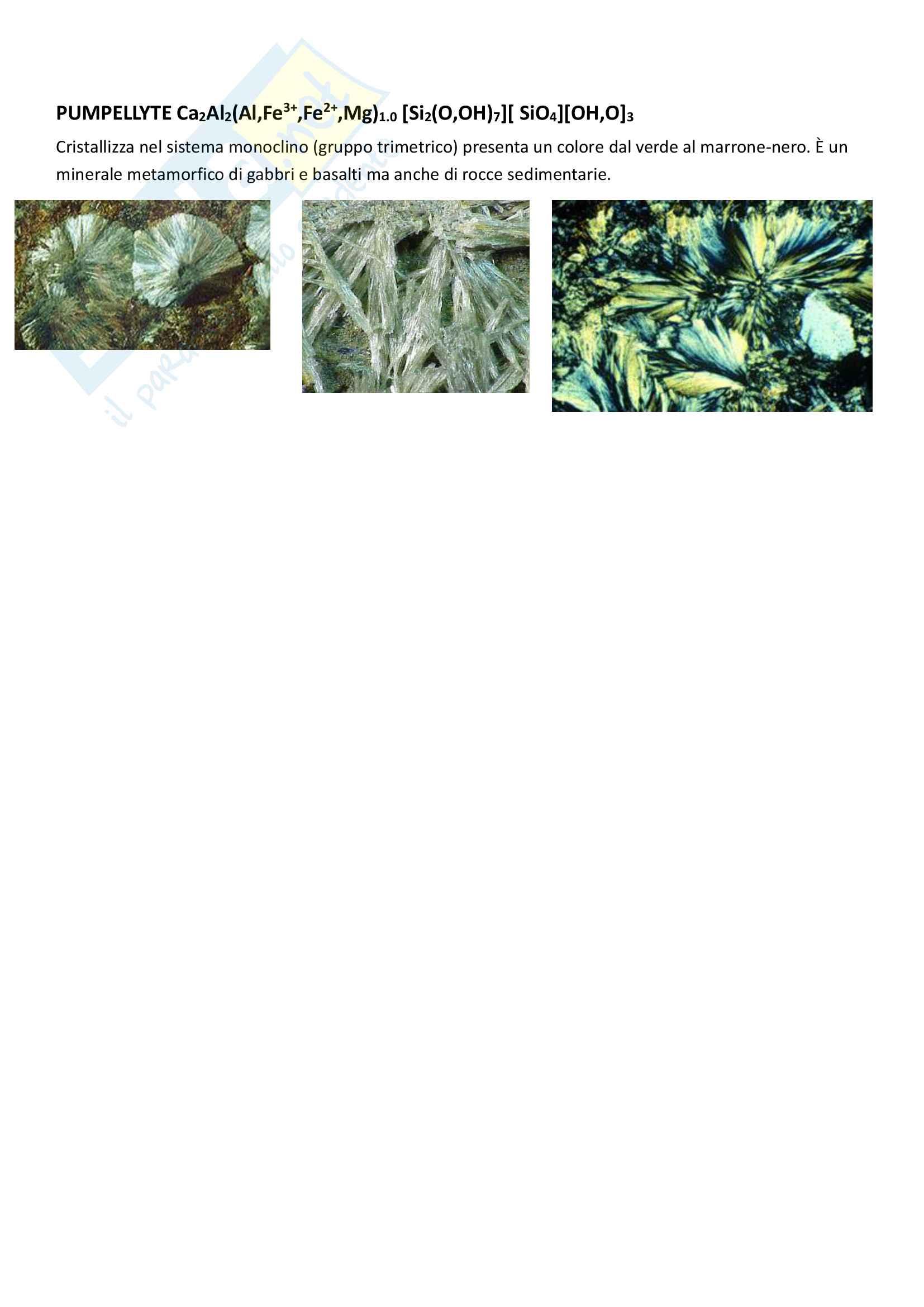 Classificazione dei minerali - Mineralogia Pag. 21