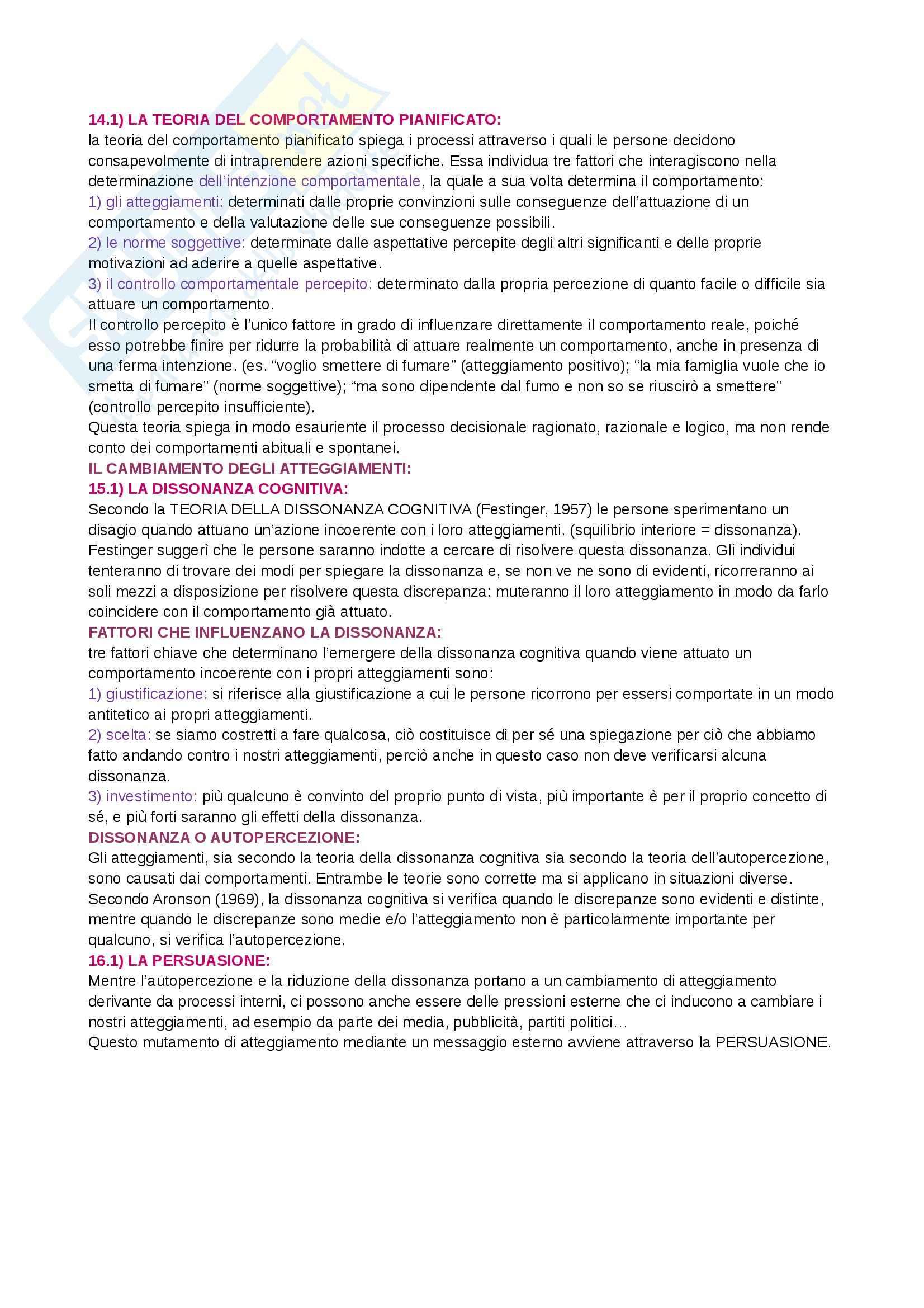Riassunto esame  Psicologia sociale, prof. Camussi, libro consigliato Psicologia sociale, Crisp Pag. 16