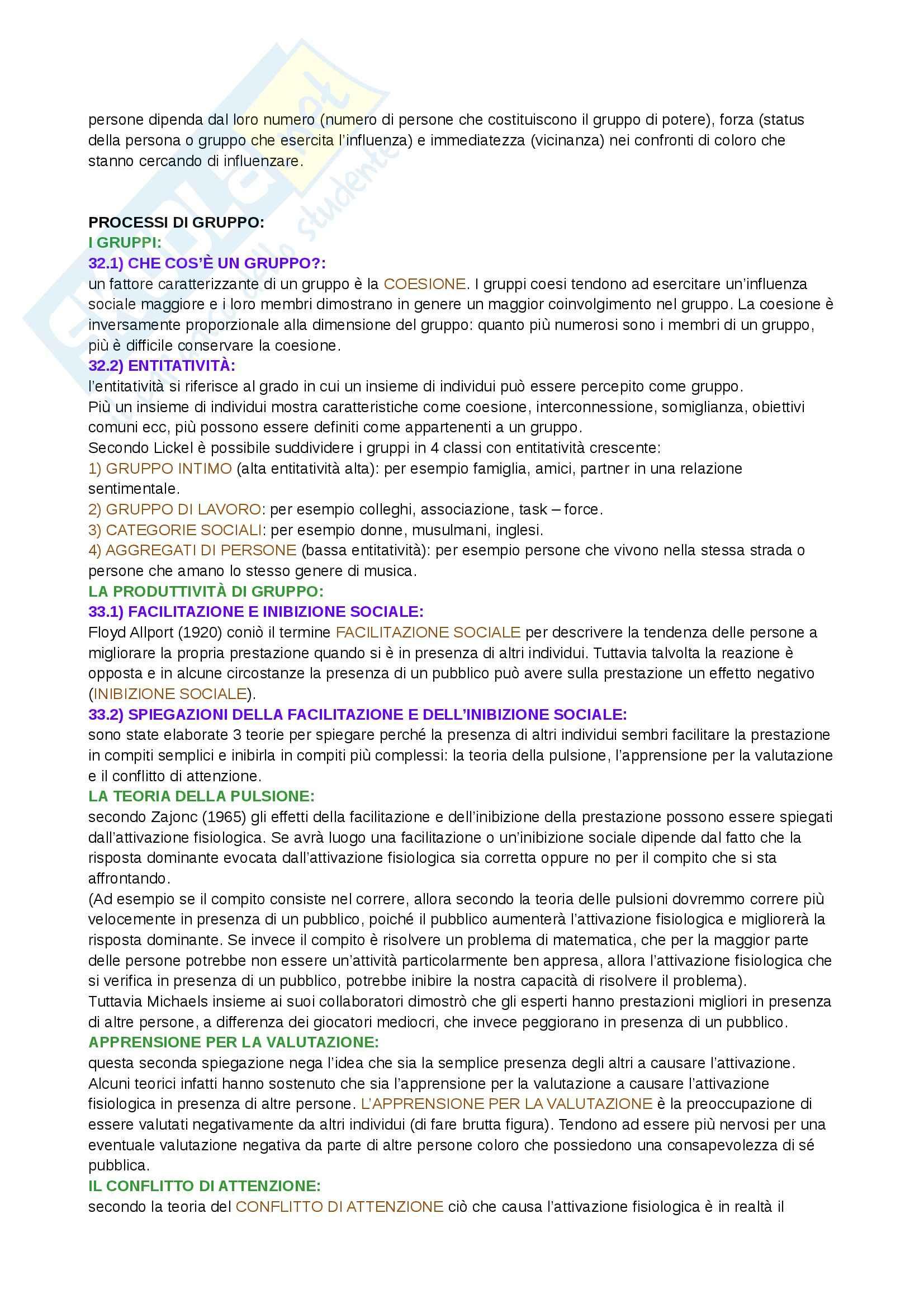Riassunto esame  Psicologia sociale, prof. Camussi, libro consigliato Psicologia sociale, Crisp Pag. 26