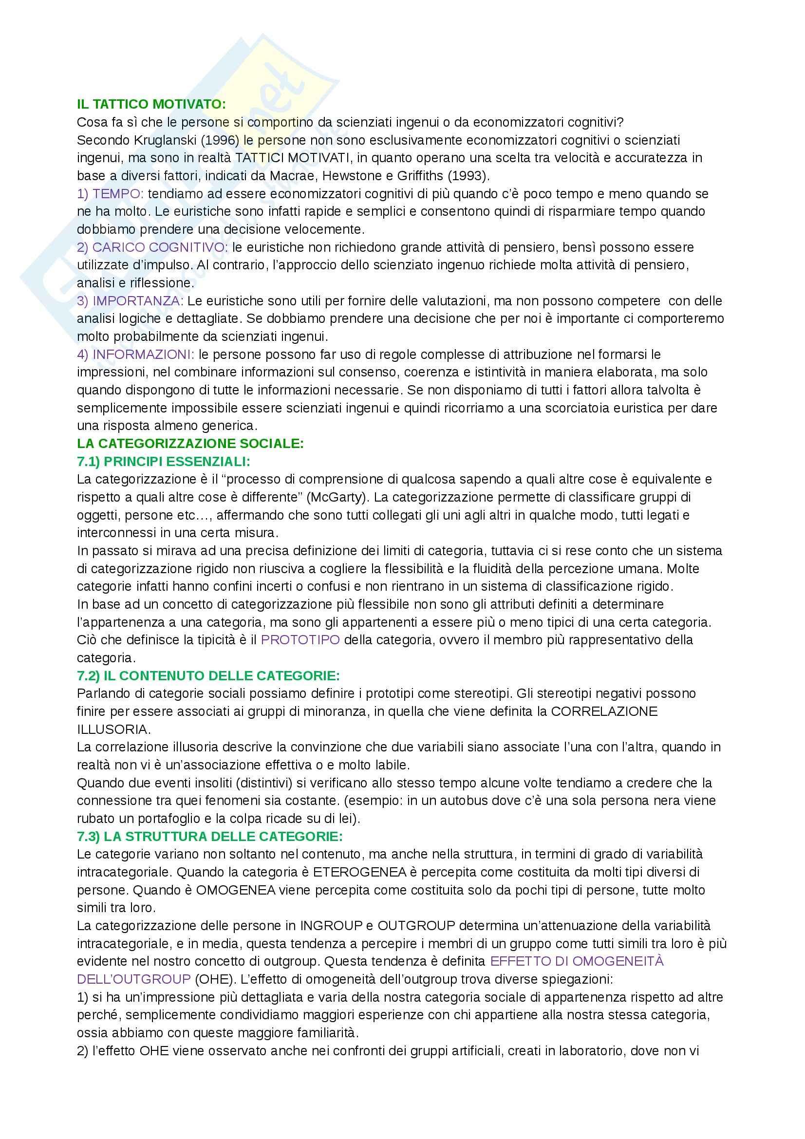 Riassunto esame  Psicologia sociale, prof. Camussi, libro consigliato Psicologia sociale, Crisp Pag. 6