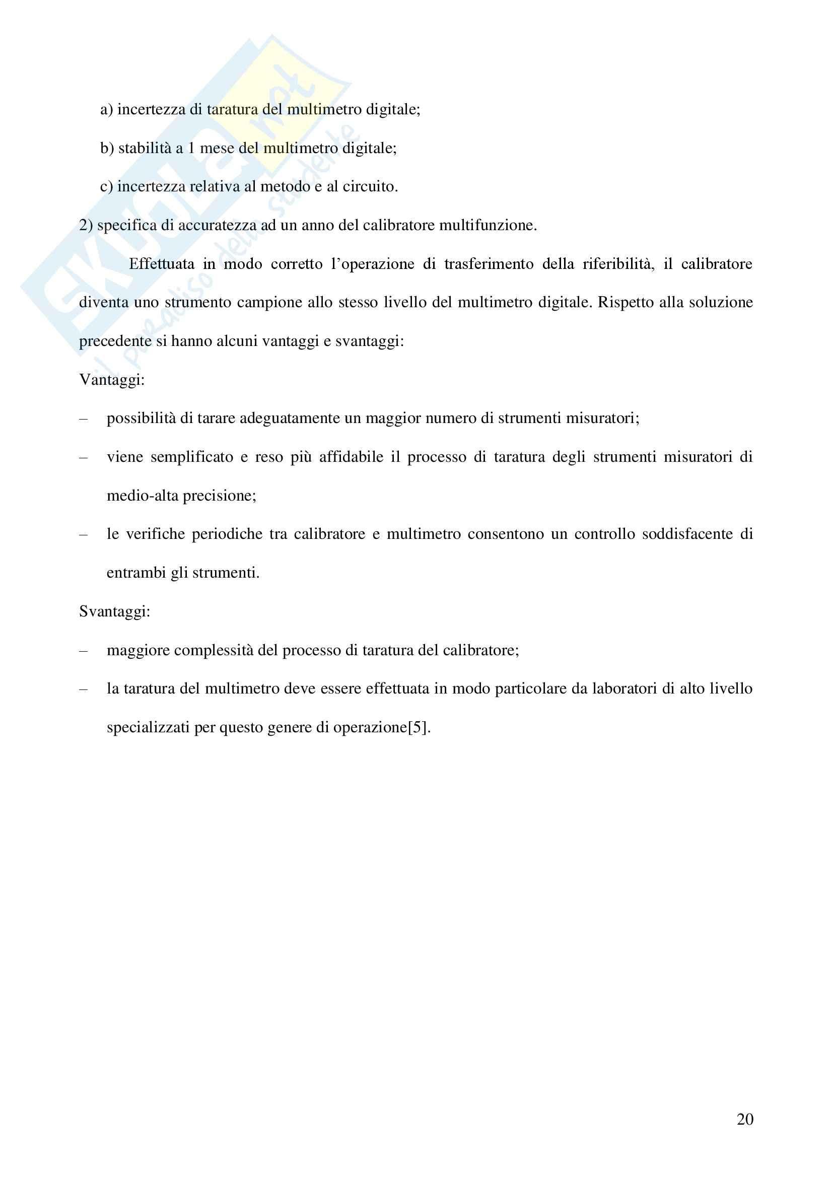 Tesi sperimentale Misure Elettroniche - Conferma metrologica Multimetro Pag. 21