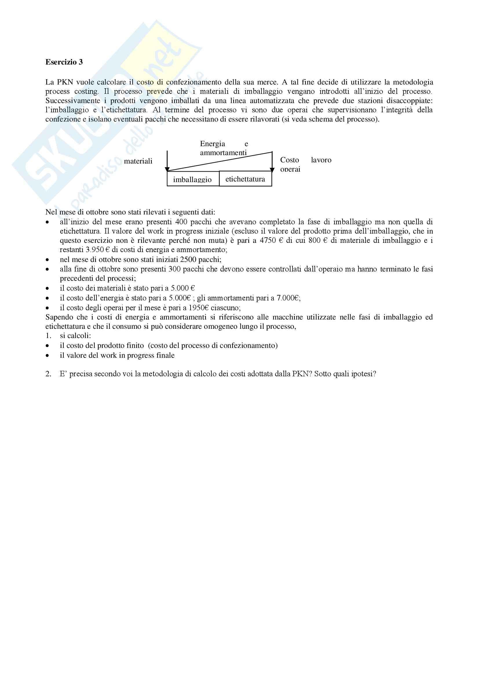 Esercizi con soluzioni, Economia e organizzazione aziendale Pag. 56