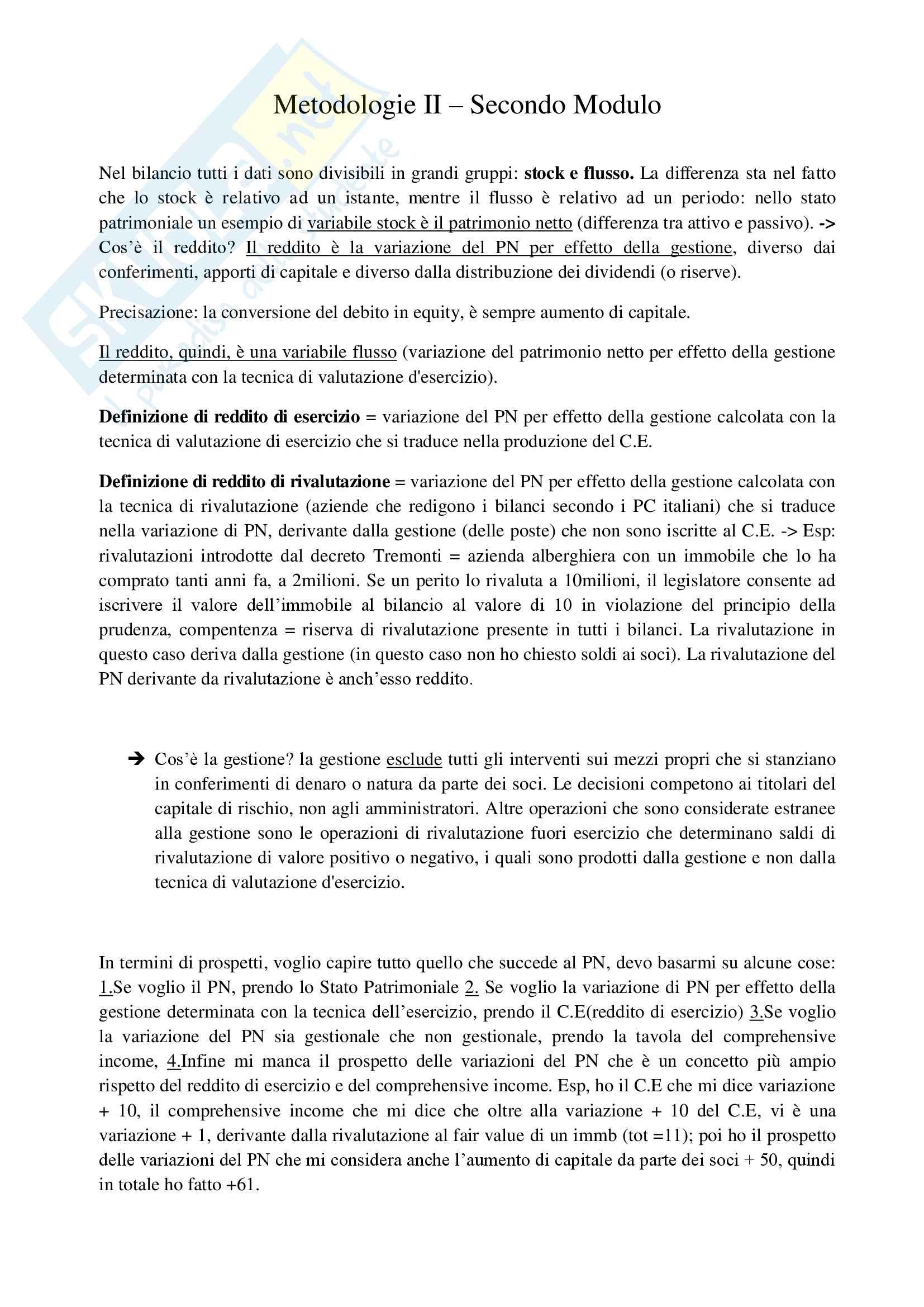 Analisi di bilancio - Metodologie II