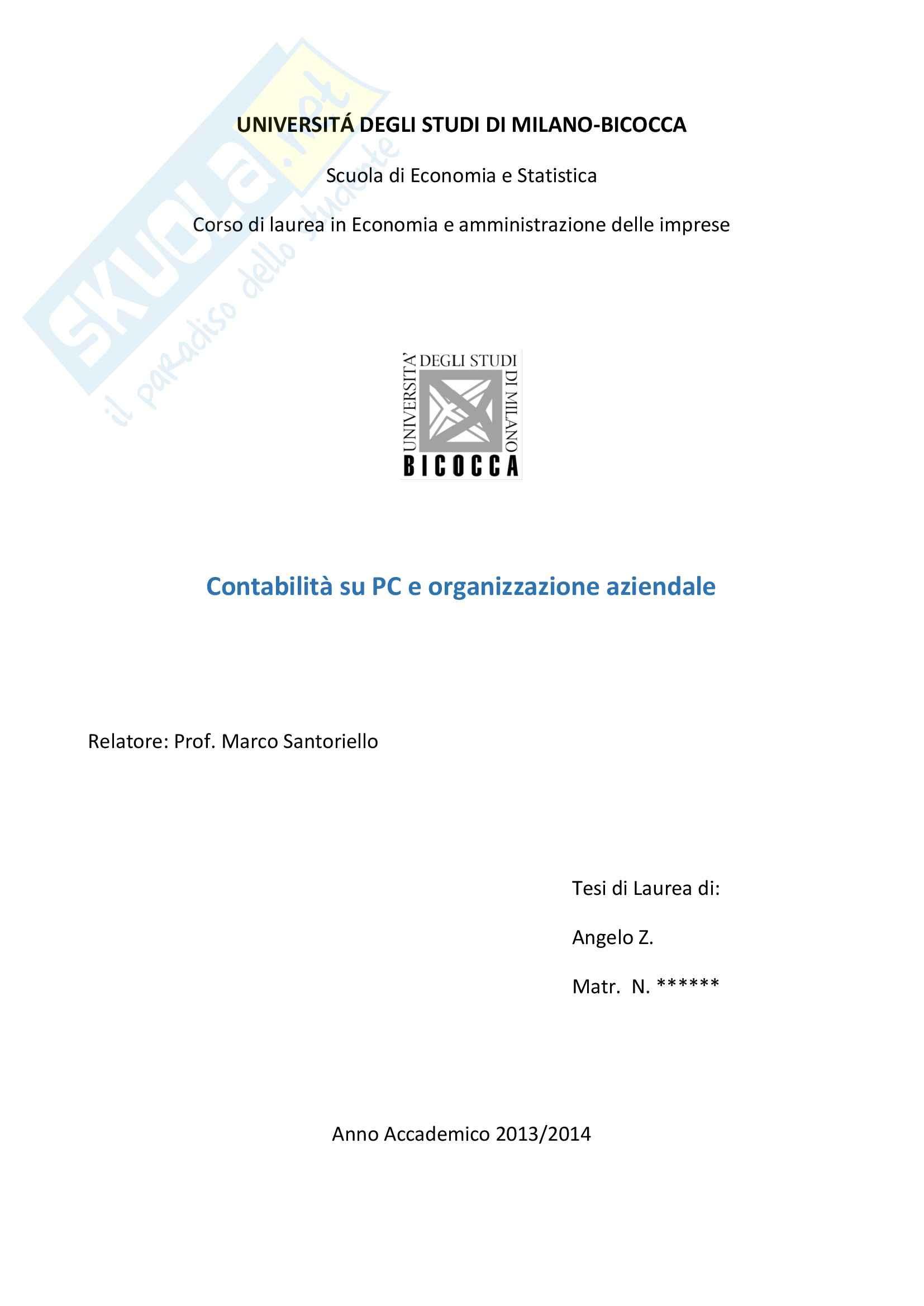 tesi M. Santoriello Organizzazione Aziendale