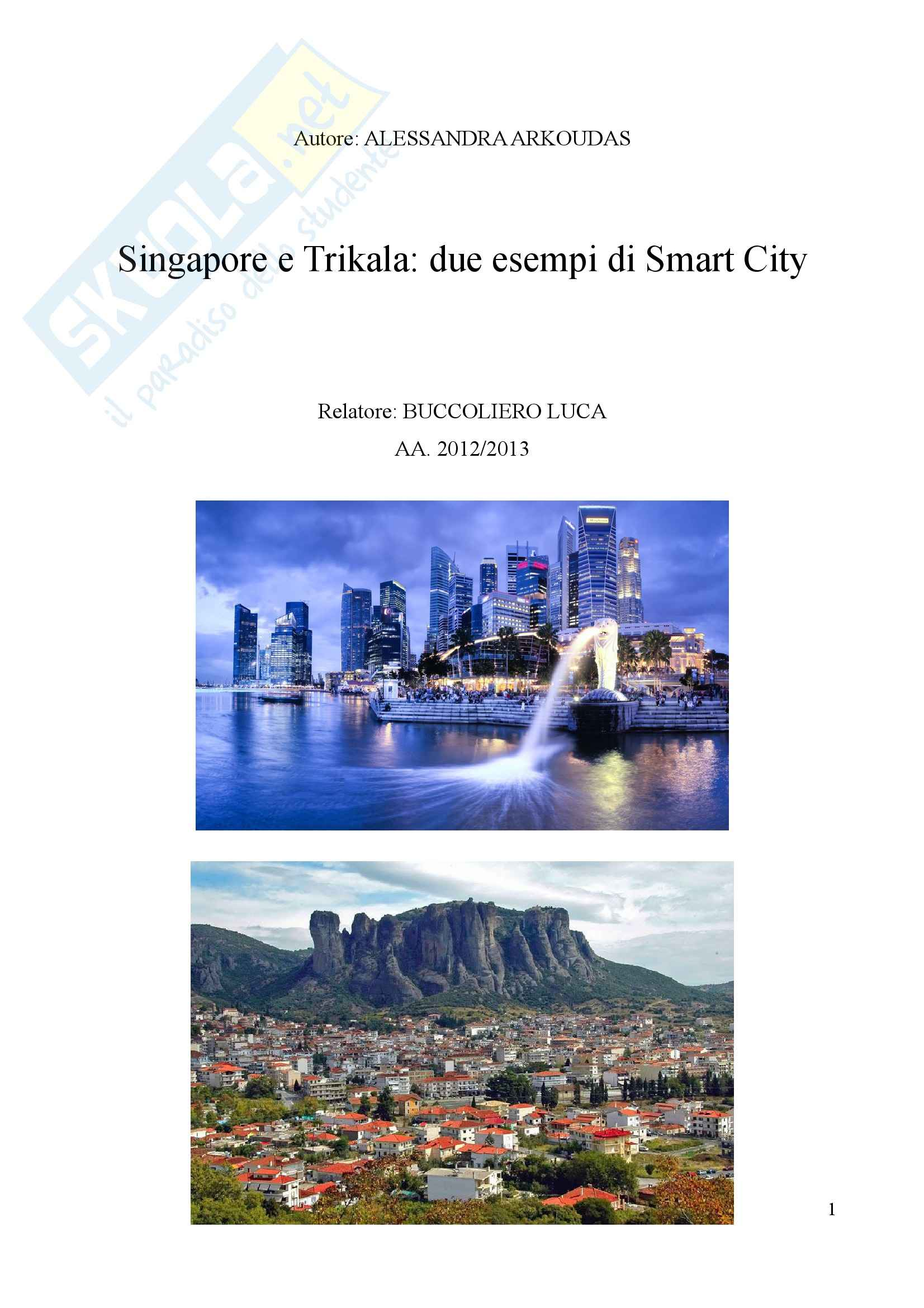 Tesi, Smart Cities: due casi a confronto