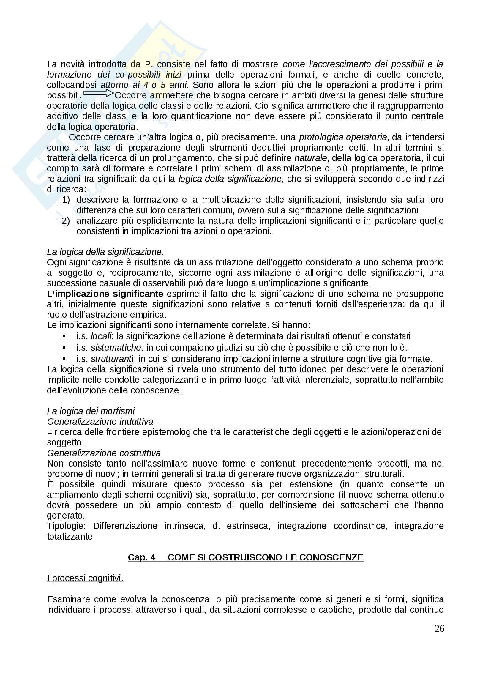 Riassunto esame Psicologia dello sviluppo, prof. Gattico, libro consigliato Jean Piaget Pag. 26