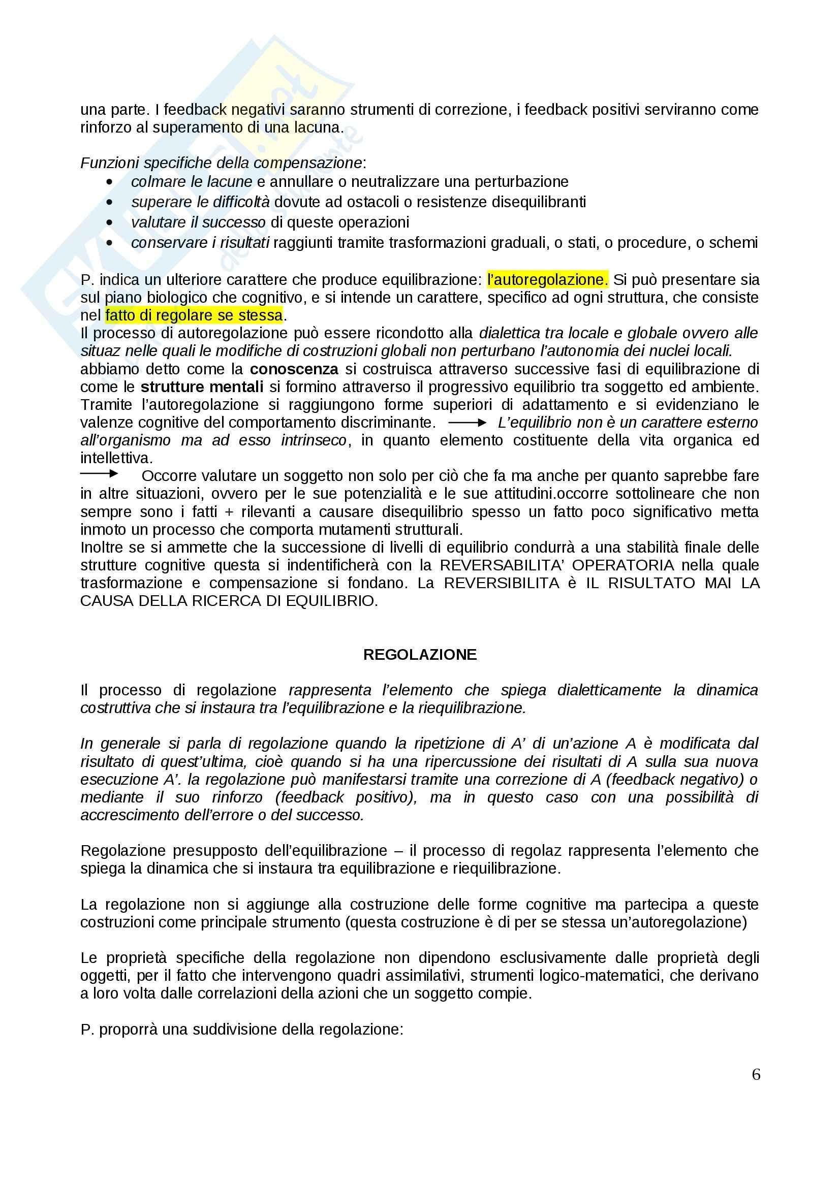 Riassunto esame Psicologia dello sviluppo, prof. Gattico, libro consigliato Jean Piaget Pag. 6