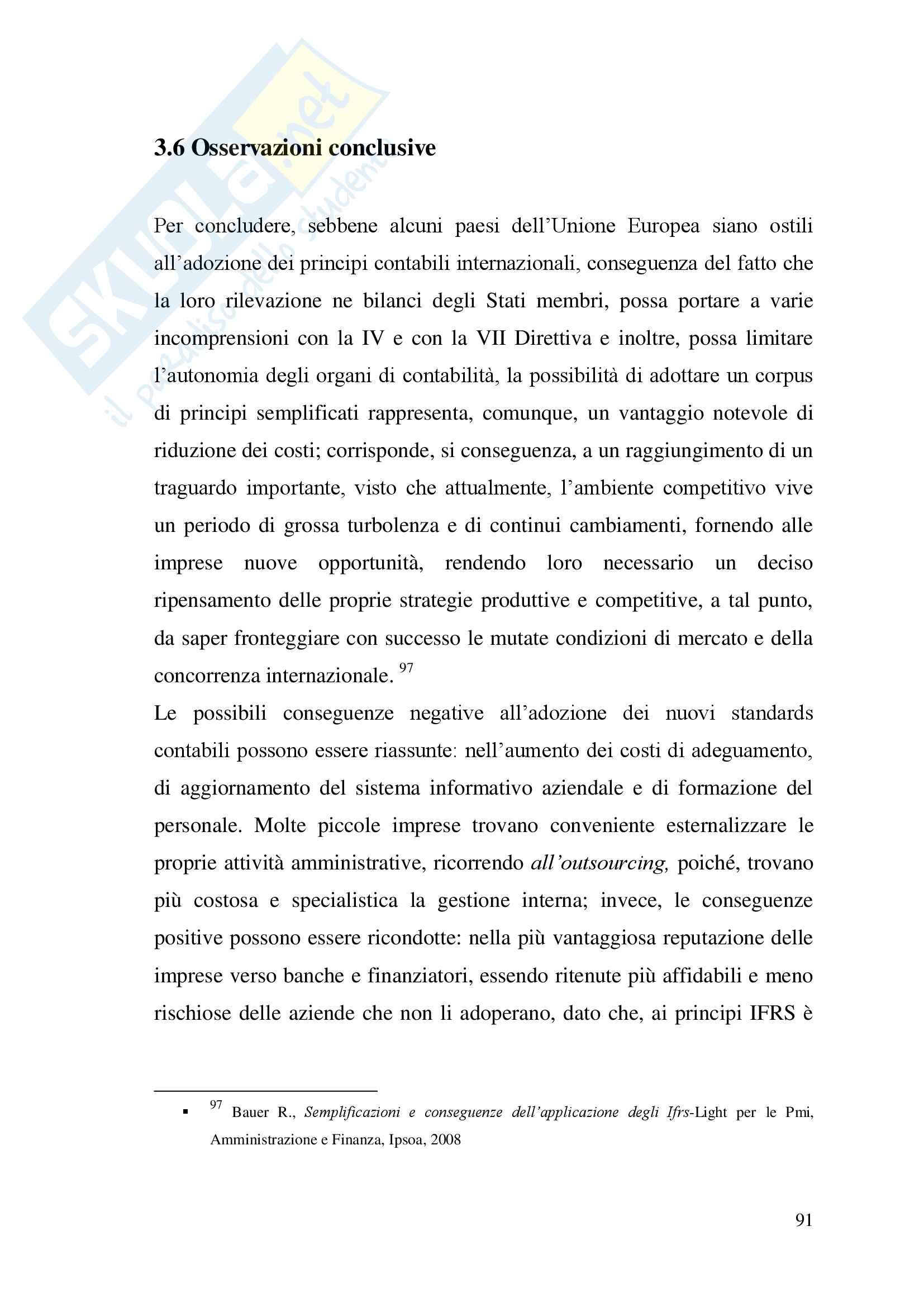 Tesi su Principi Contabili Internazionali Pag. 91