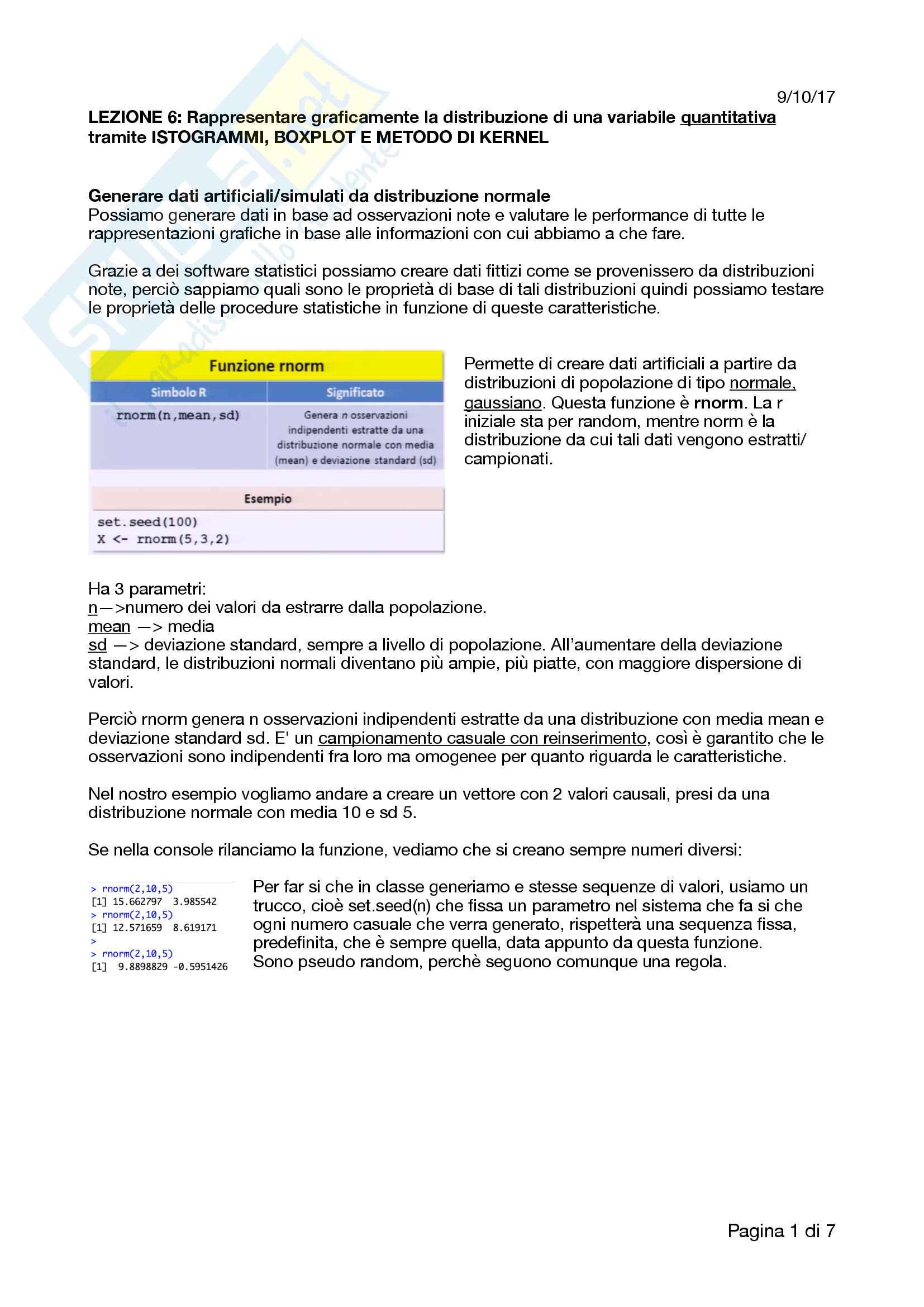 Appunti completi e ottimi di analisi dei dati, R, RStudio e correlati con esempi e esercizi Pag. 21