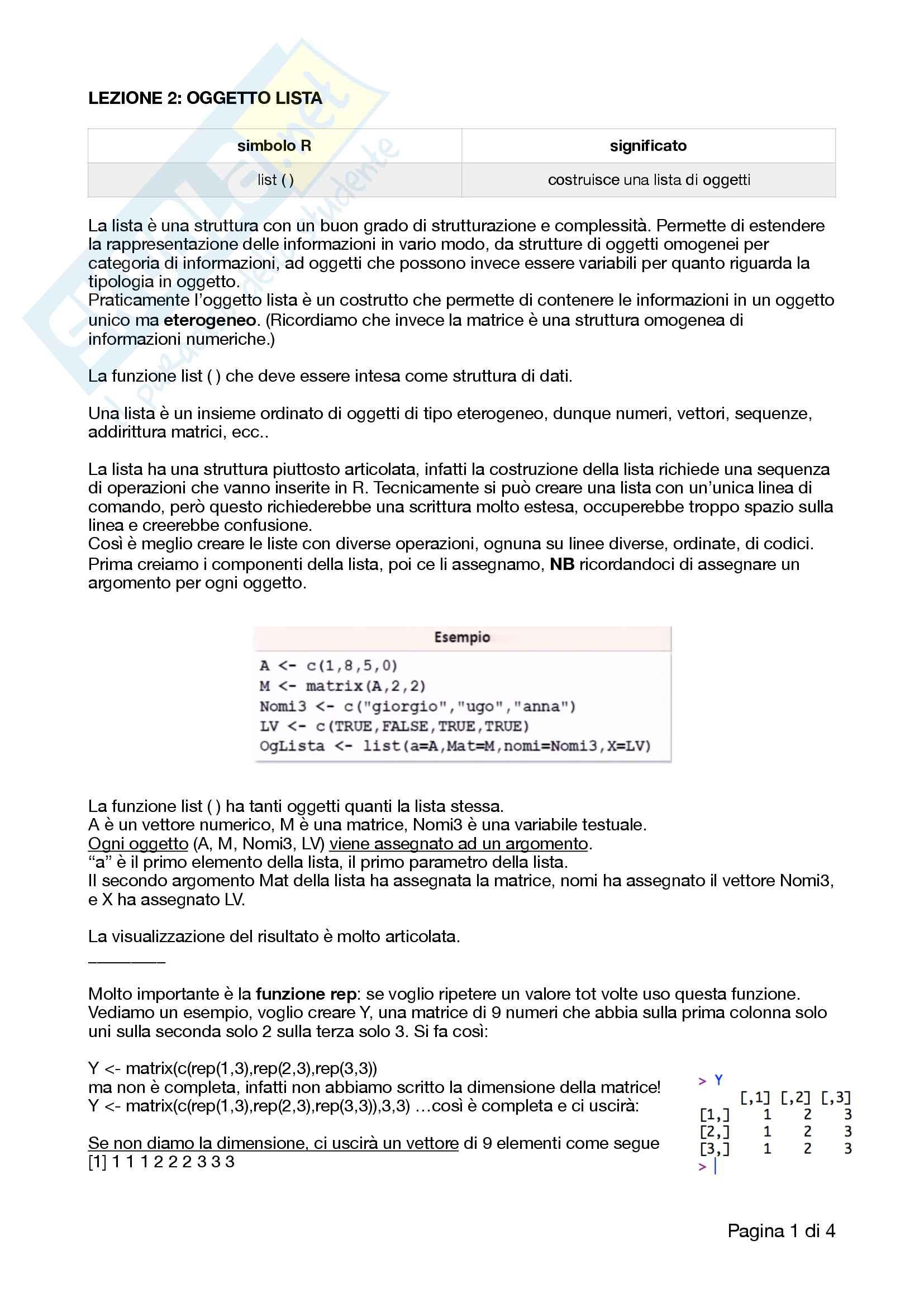 Appunti completi e ottimi di analisi dei dati, R, RStudio e correlati con esempi e esercizi Pag. 6