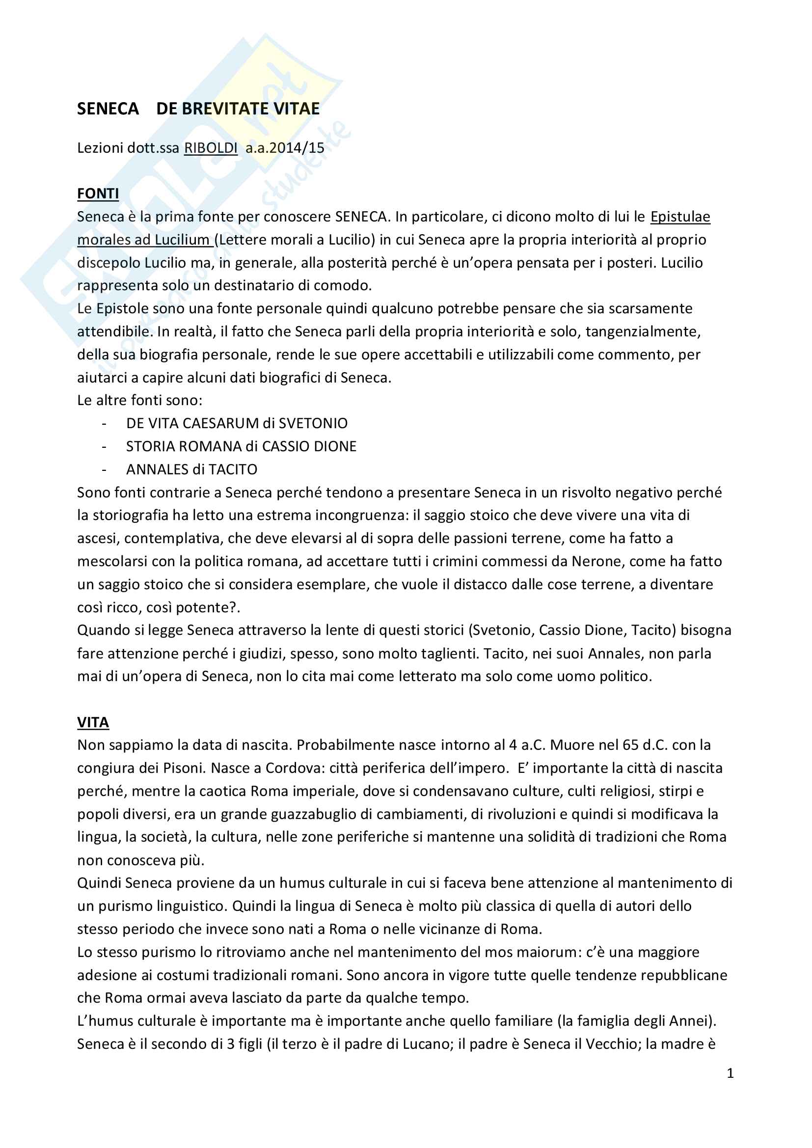 appunto C. Riboldi Lingua latina