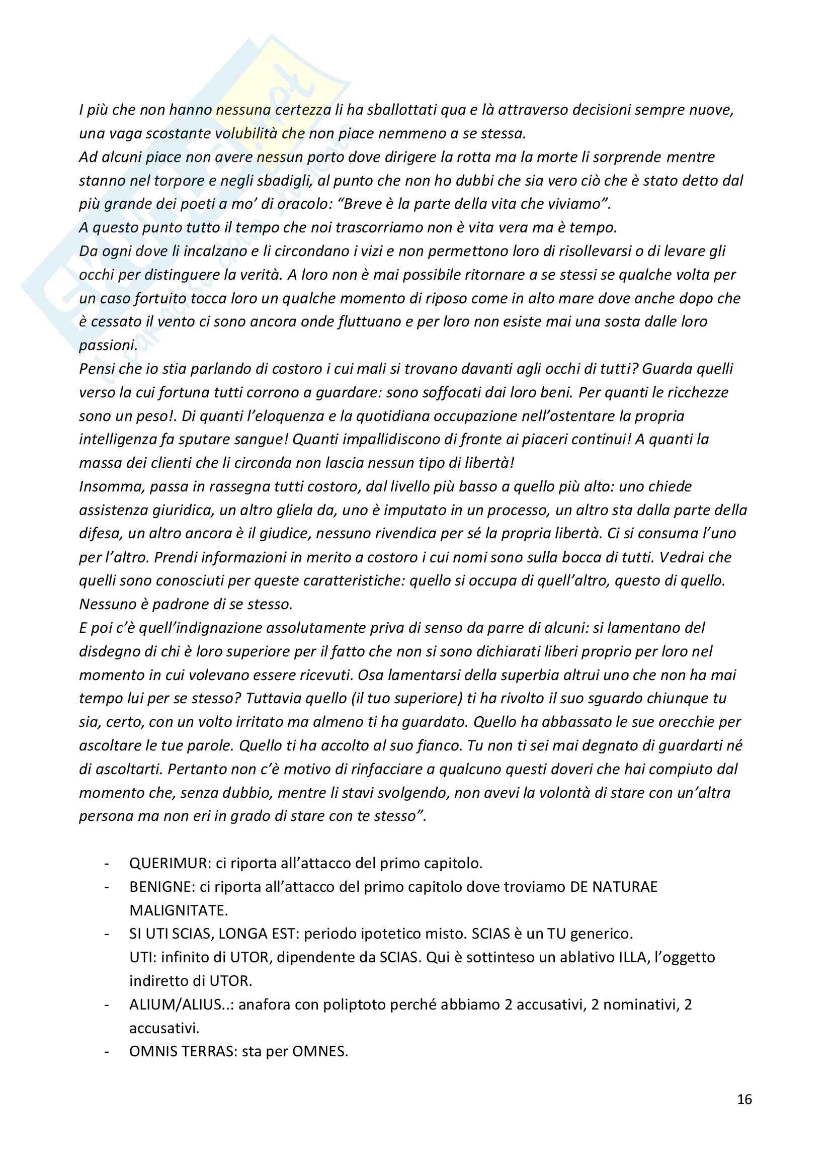 Seneca De brevitate vitae Pag. 16