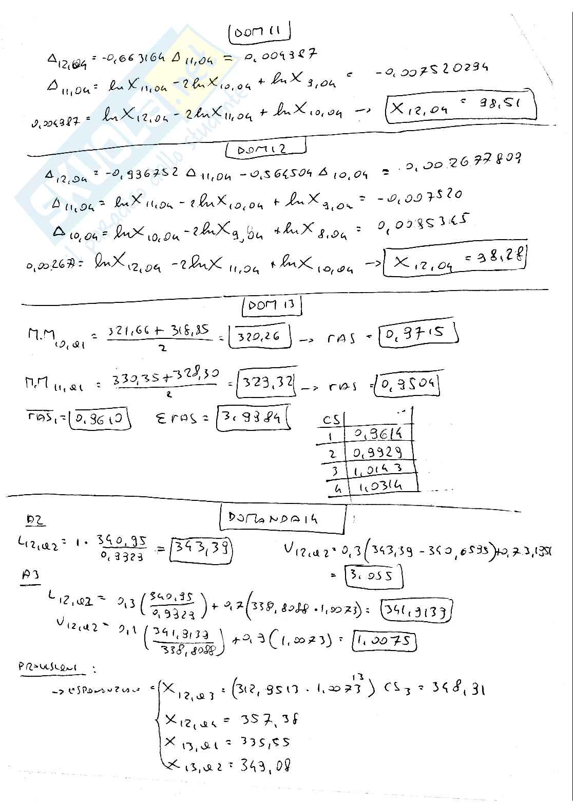 Metodi quantitativi per il management Pag. 36