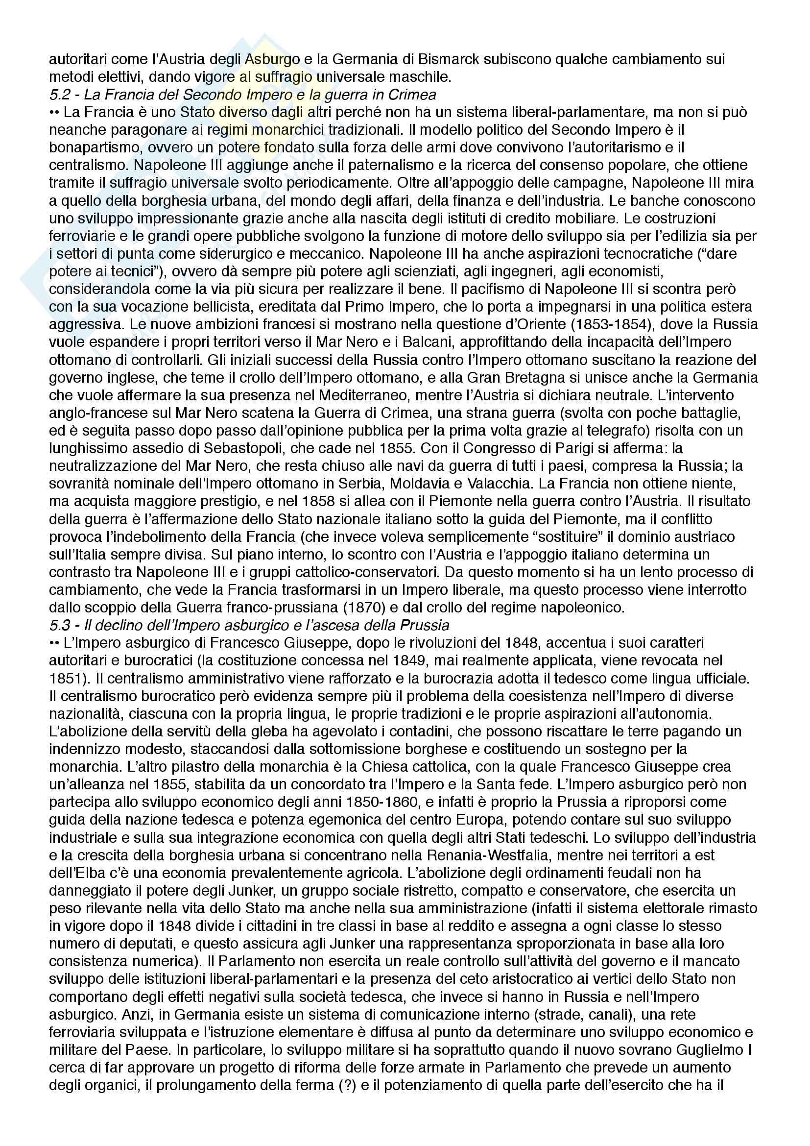 Riassunto esame Istituzioni di storia contemporanea, prof.  Roccucci, libro consigliato Il mondo contemporaneo - dal 1848 a oggi, Sabbatucci, Vidotto Pag. 16
