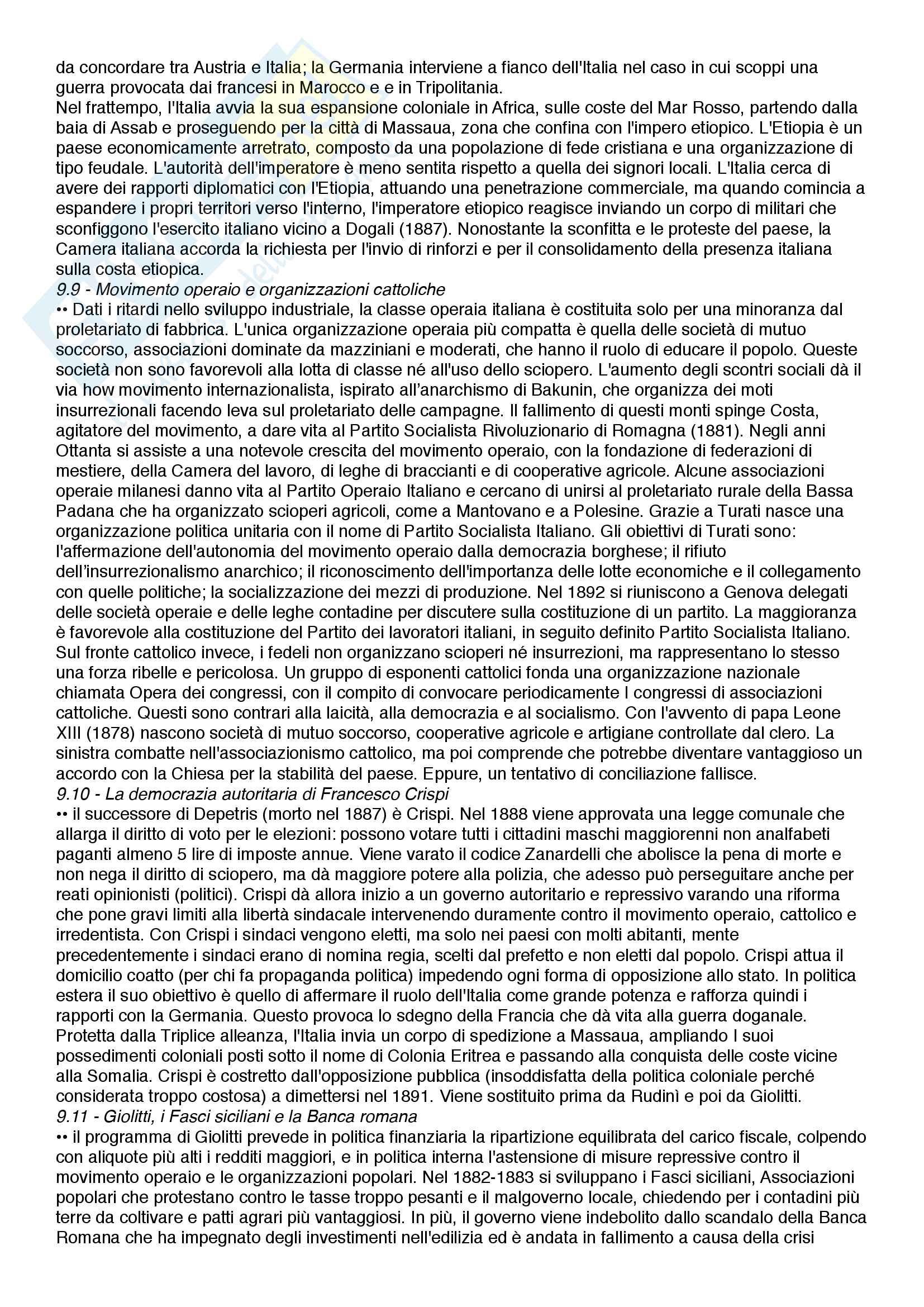Riassunto esame Istituzioni di storia contemporanea, prof.  Roccucci, libro consigliato Il mondo contemporaneo - dal 1848 a oggi, Sabbatucci, Vidotto Pag. 31