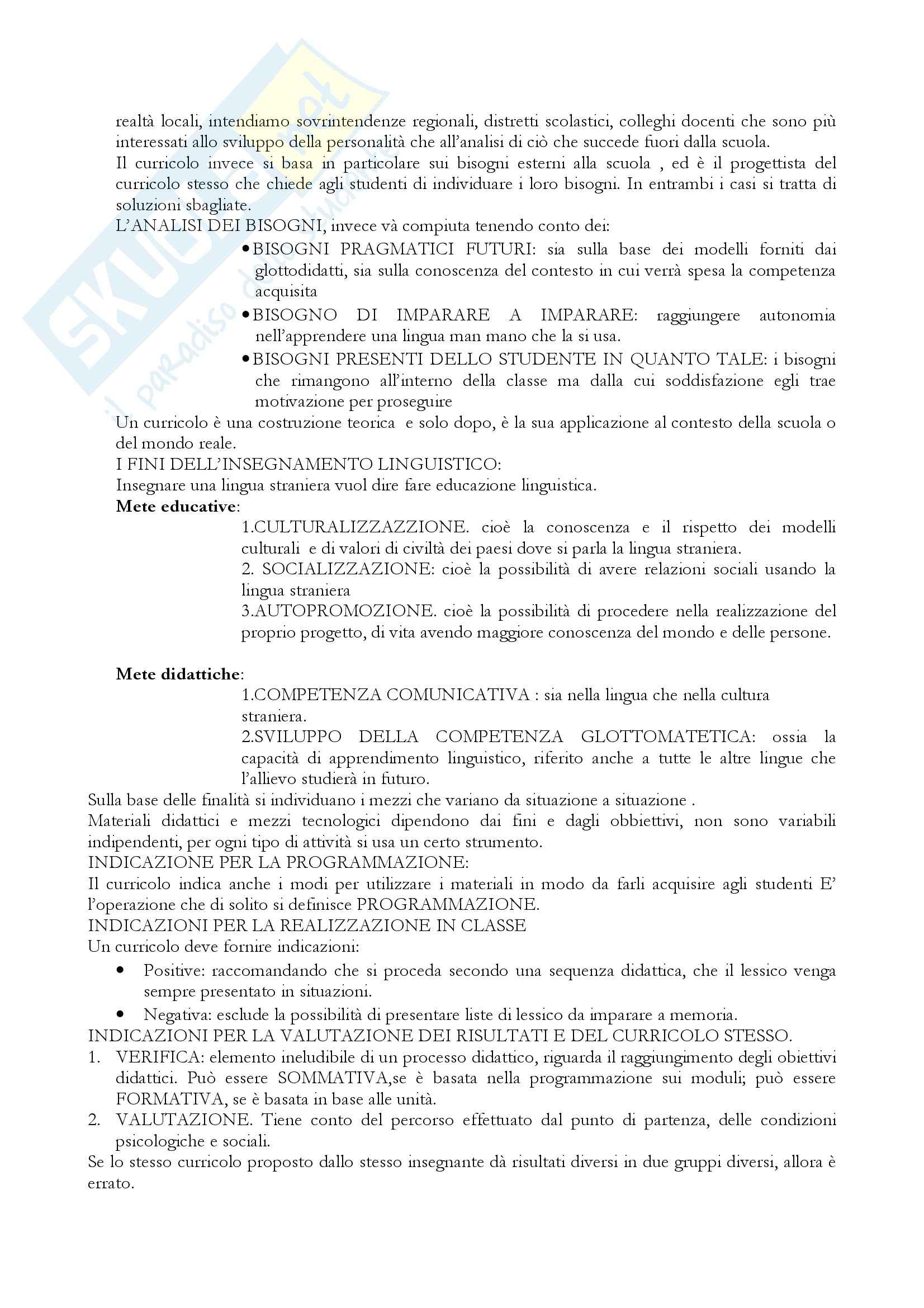 Riassunto esame Linguistica informatica, prof. Di Sparti, libro consigliato Le sfide di Babele, Balboni Pag. 16