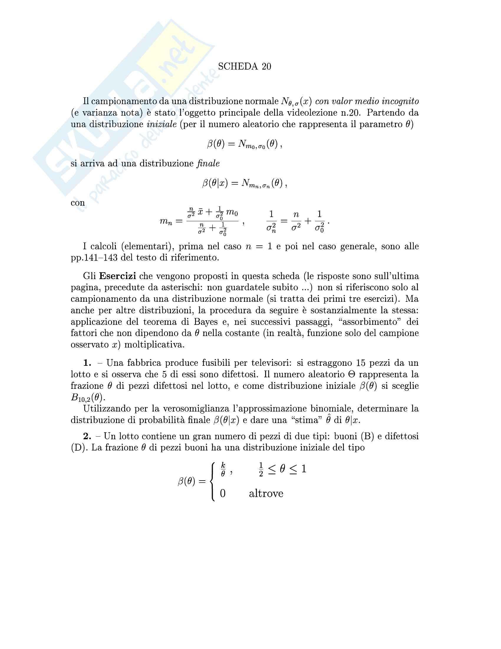 Complementi di analisi matematica per l'ingegneria informatica - calcolo delle probabilità con soluzioni Pag. 51