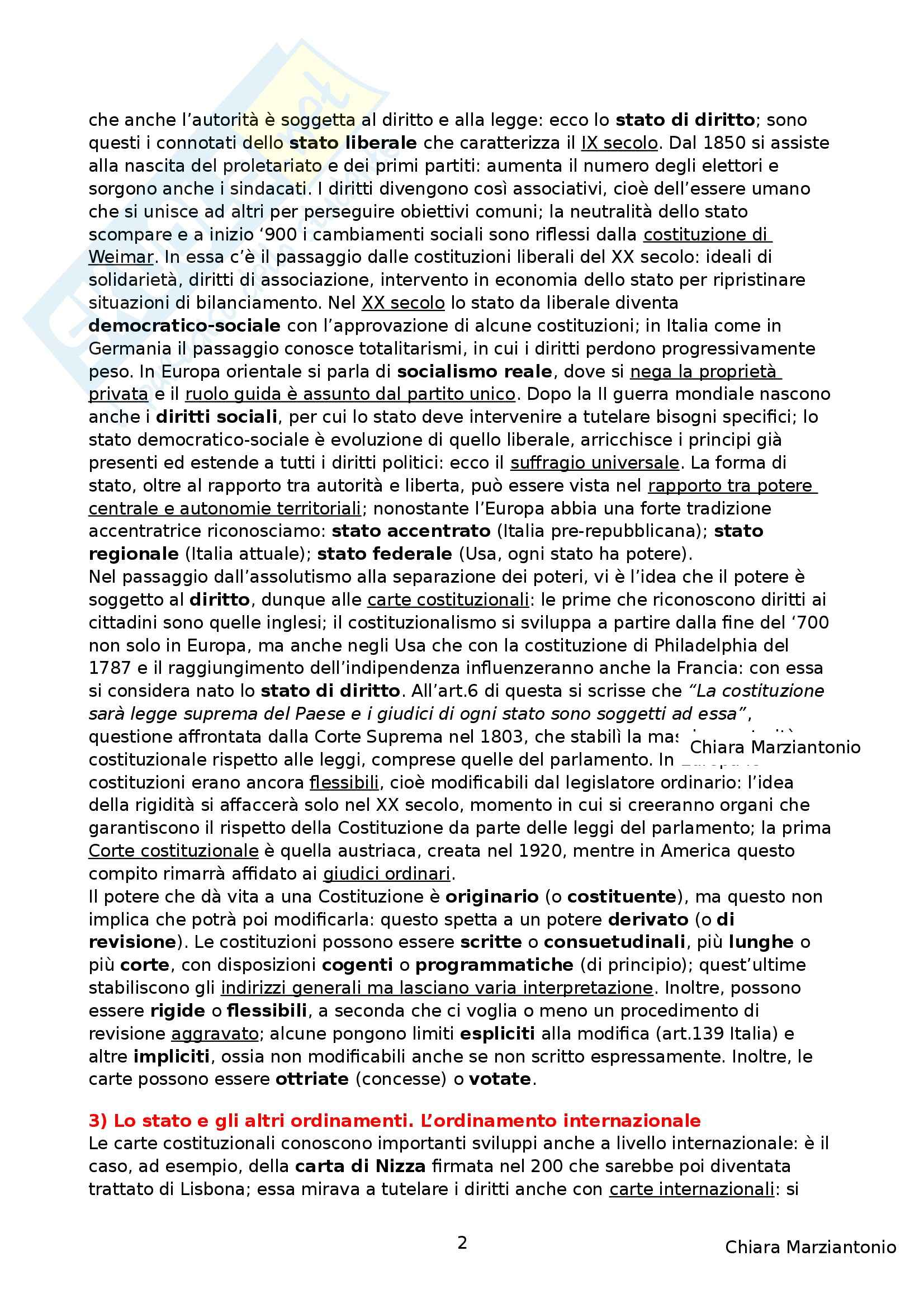 Riassunto esame Istituzioni di Diritto Pubblico, prof. Corsi, libro consigliato Corso di Diritto Pubblico, Barbera, Fusaro Pag. 2