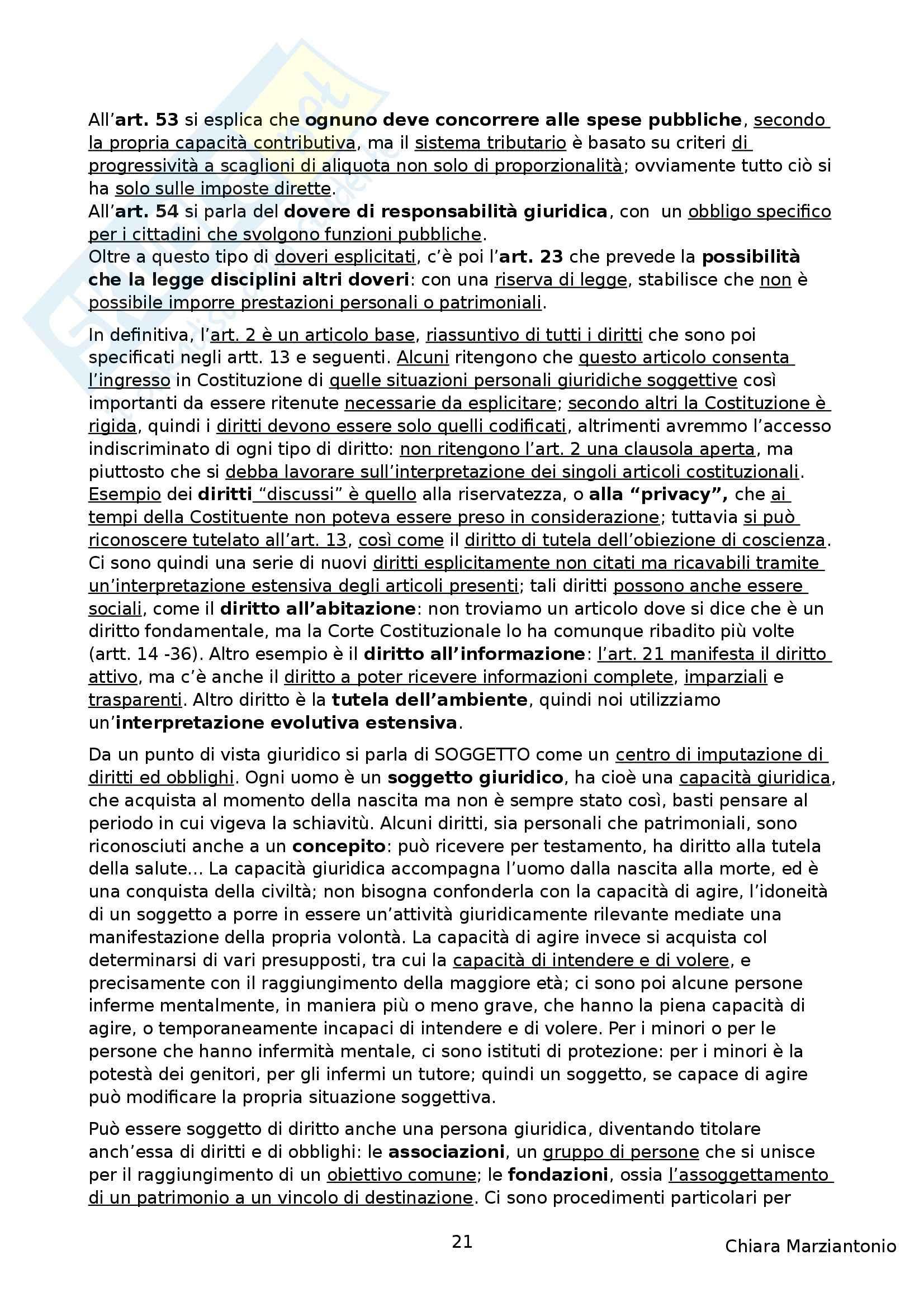 Riassunto esame Istituzioni di Diritto Pubblico, prof. Corsi, libro consigliato Corso di Diritto Pubblico, Barbera, Fusaro Pag. 21