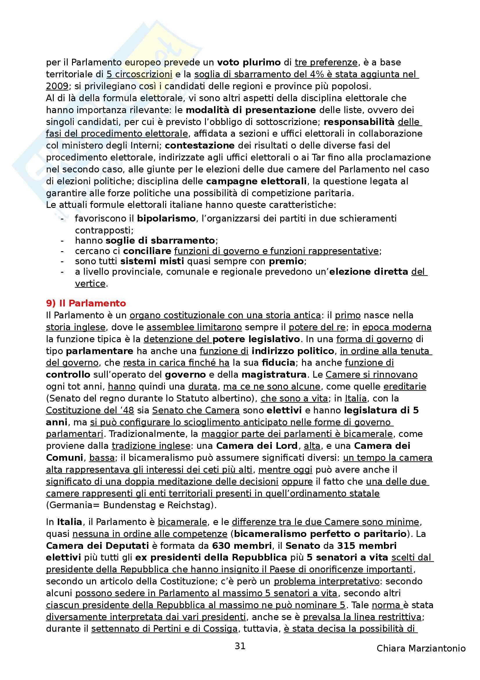 Riassunto esame Istituzioni di Diritto Pubblico, prof. Corsi, libro consigliato Corso di Diritto Pubblico, Barbera, Fusaro Pag. 31