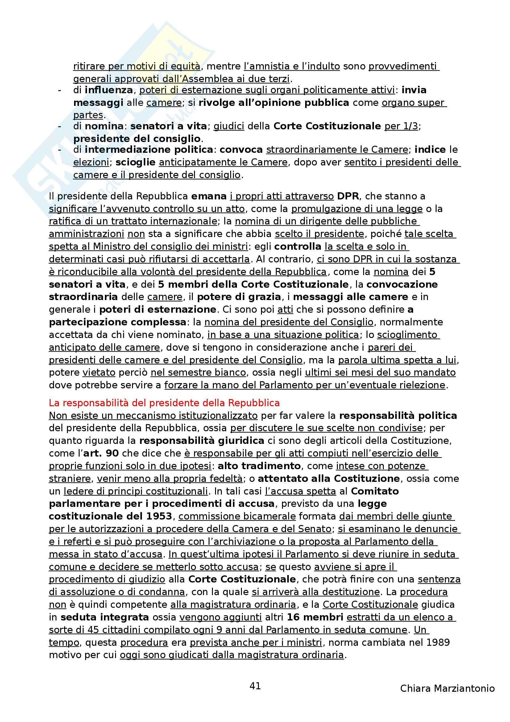 Riassunto esame Istituzioni di Diritto Pubblico, prof. Corsi, libro consigliato Corso di Diritto Pubblico, Barbera, Fusaro Pag. 41