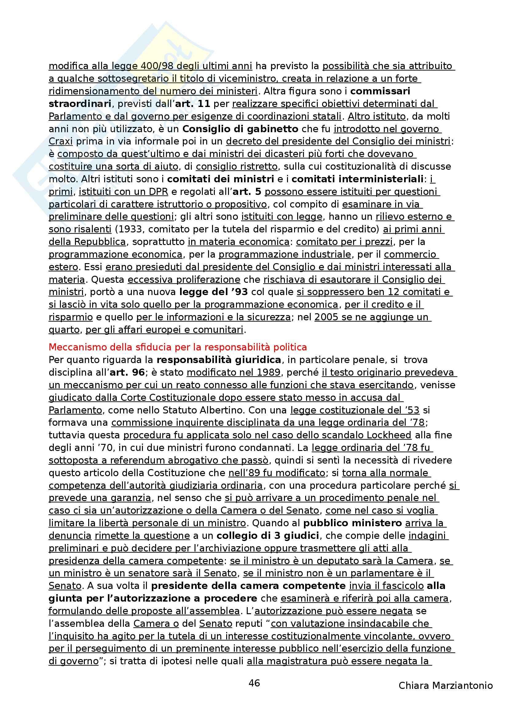 Riassunto esame Istituzioni di Diritto Pubblico, prof. Corsi, libro consigliato Corso di Diritto Pubblico, Barbera, Fusaro Pag. 46