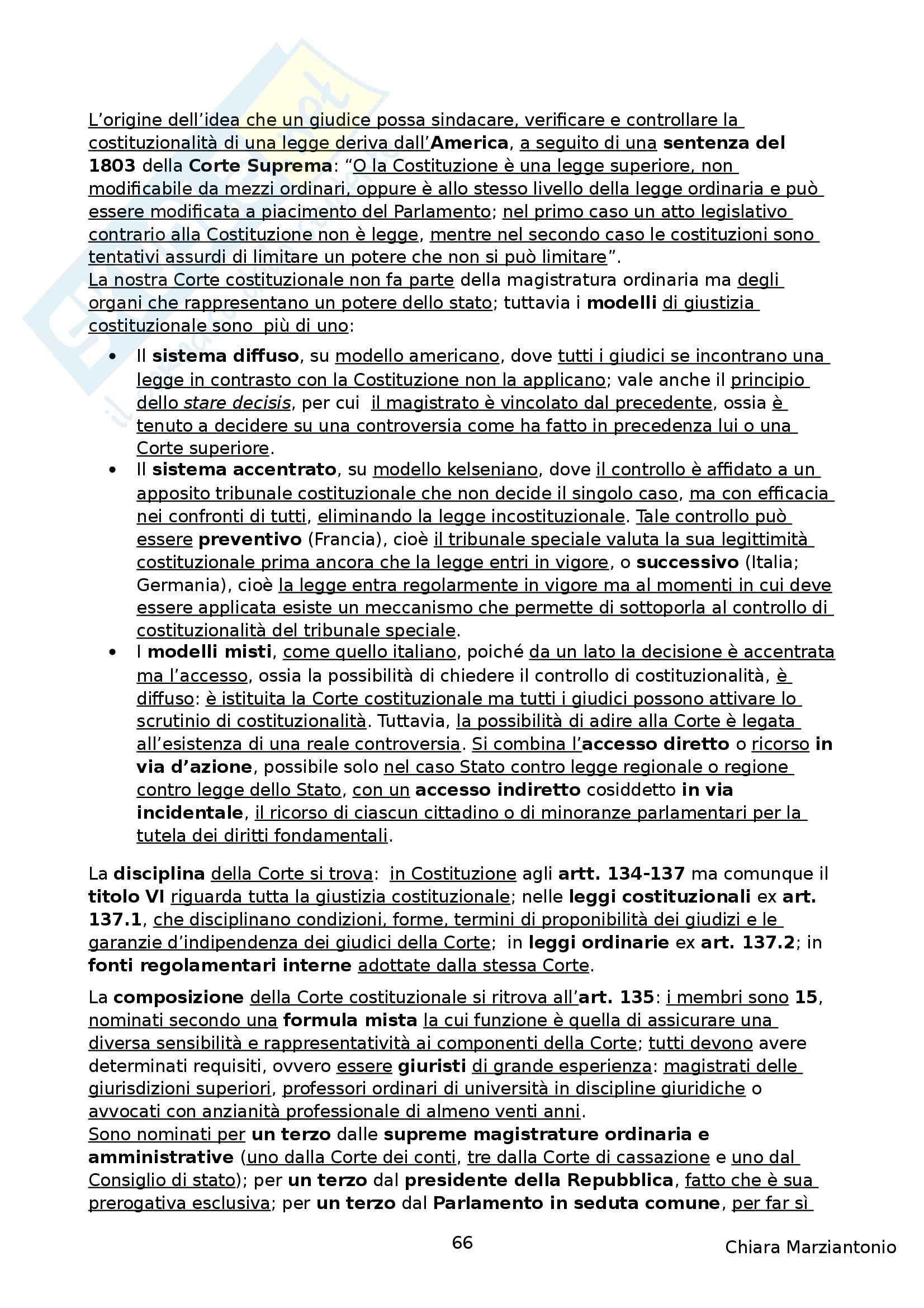 Riassunto esame Istituzioni di Diritto Pubblico, prof. Corsi, libro consigliato Corso di Diritto Pubblico, Barbera, Fusaro Pag. 66