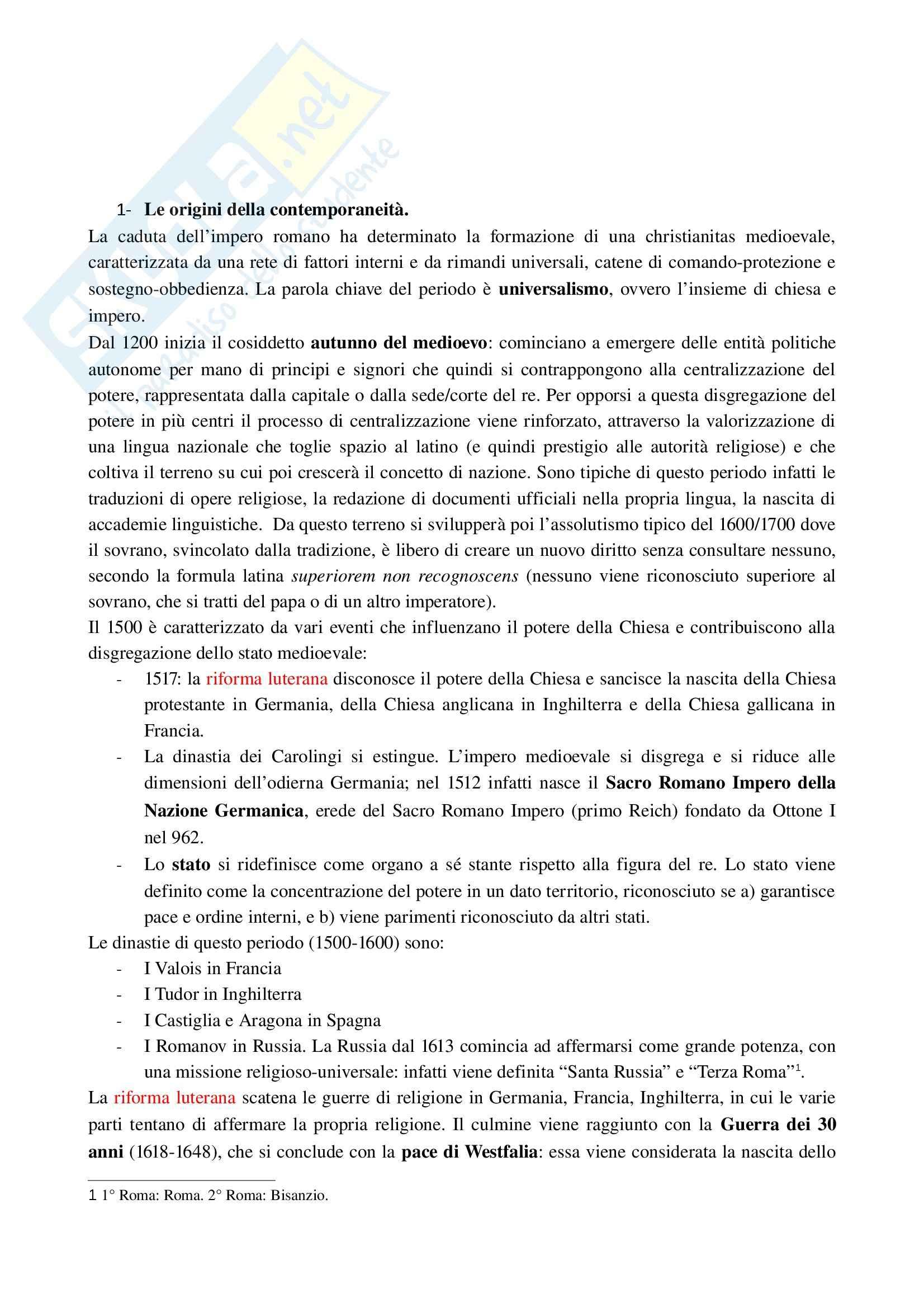 Riassunto esame Relazioni Internazionali, prof. Formigoni, libro consigliato Storia della Politica Internazionale nell'Età Contemporanea