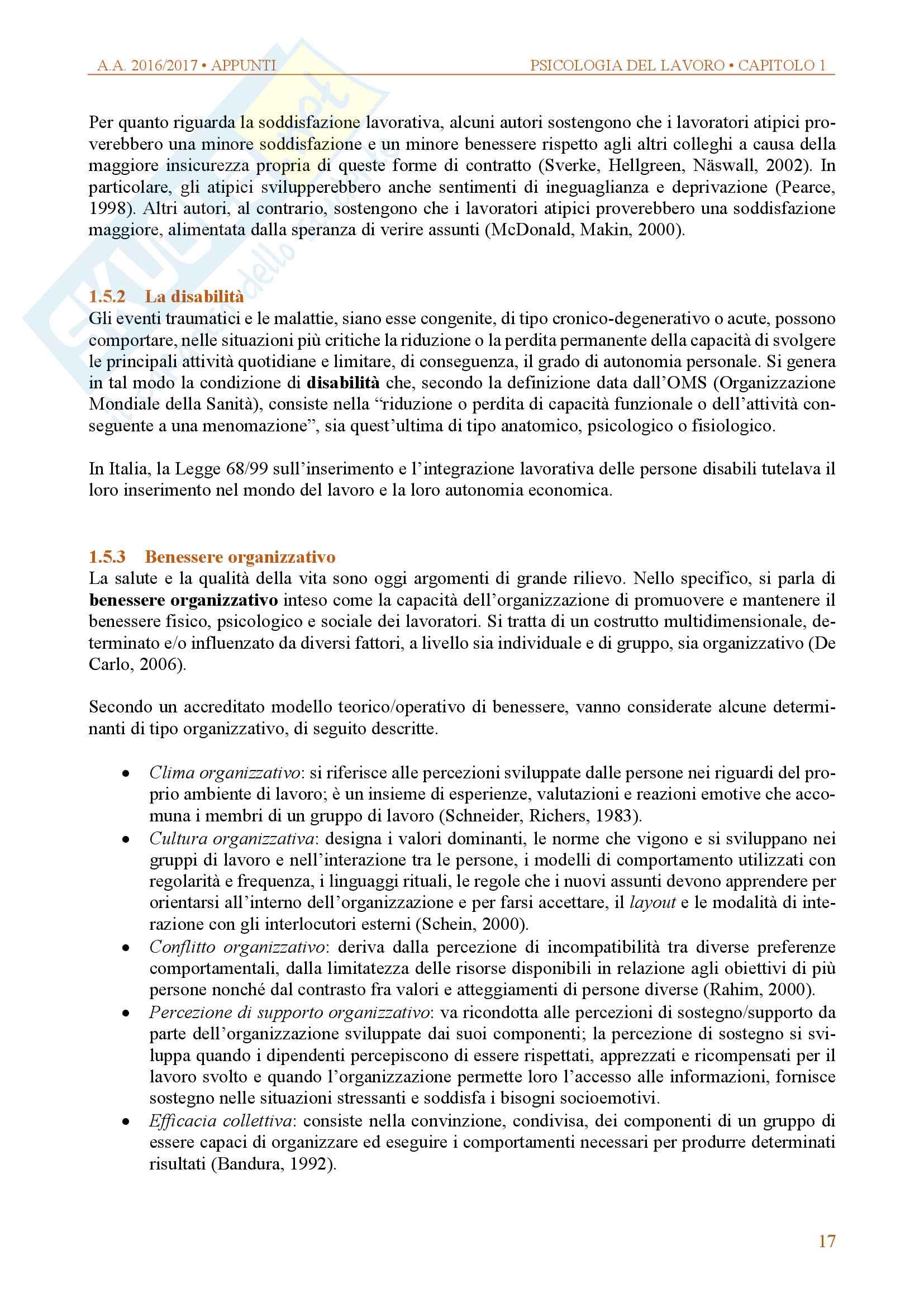 Appunti di psicologia delle organizzazioni e del lavoro Pag. 16