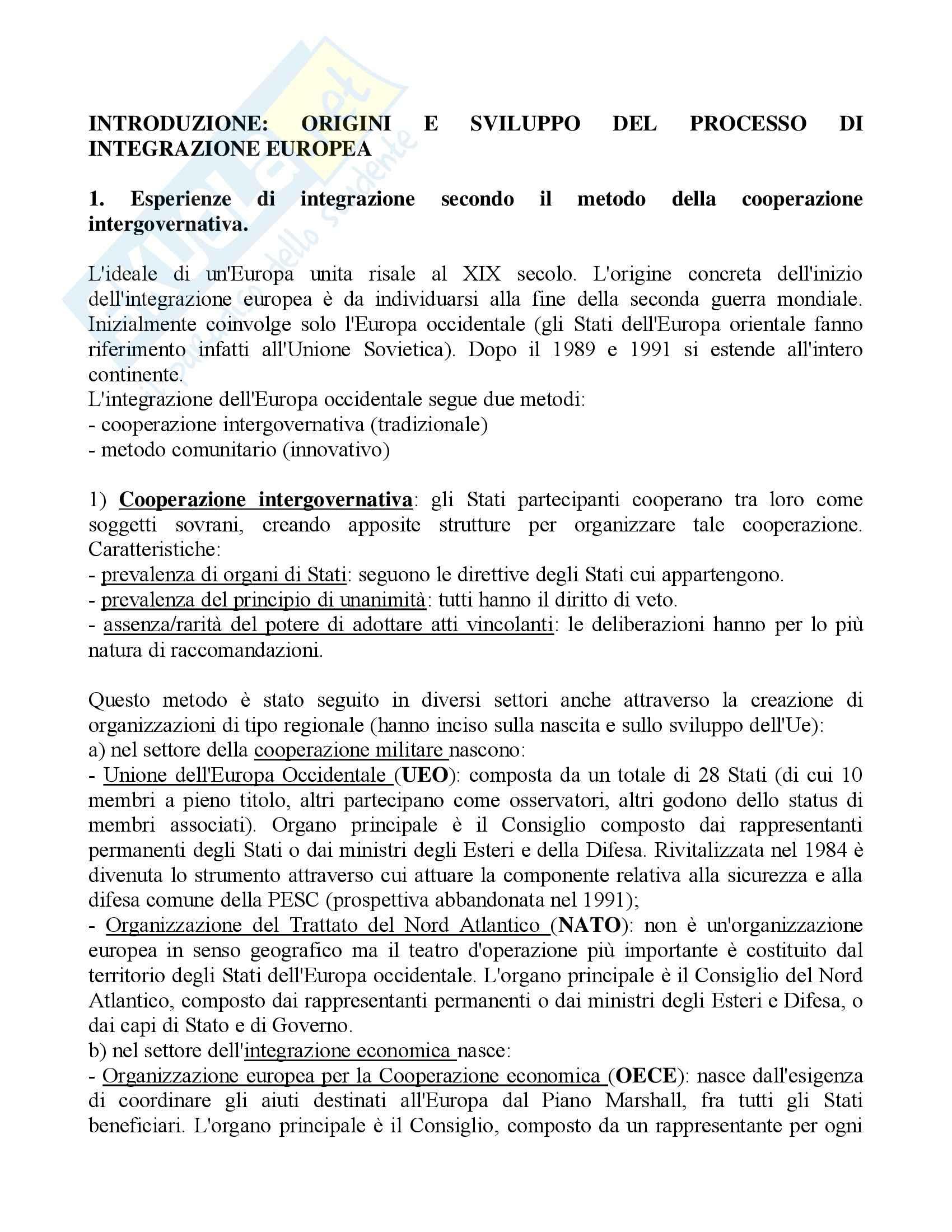 Riassunto esame Diritto dell'Unione Europea, prof. Cortese, libro consigliato Diritto dell'Unione Europea, Daniele
