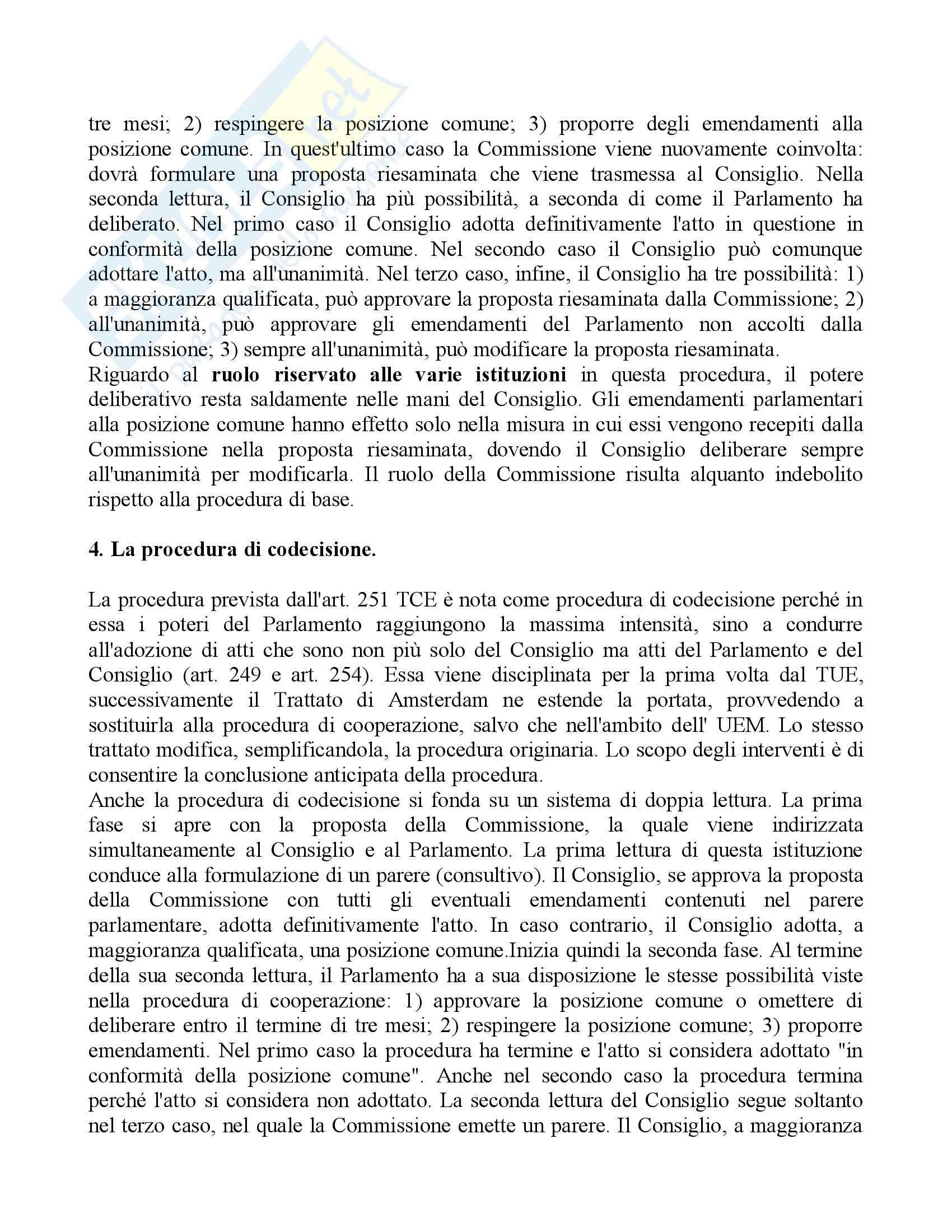 Riassunto esame Diritto dell'Unione Europea, prof. Cortese, libro consigliato Diritto dell'Unione Europea, Daniele Pag. 26