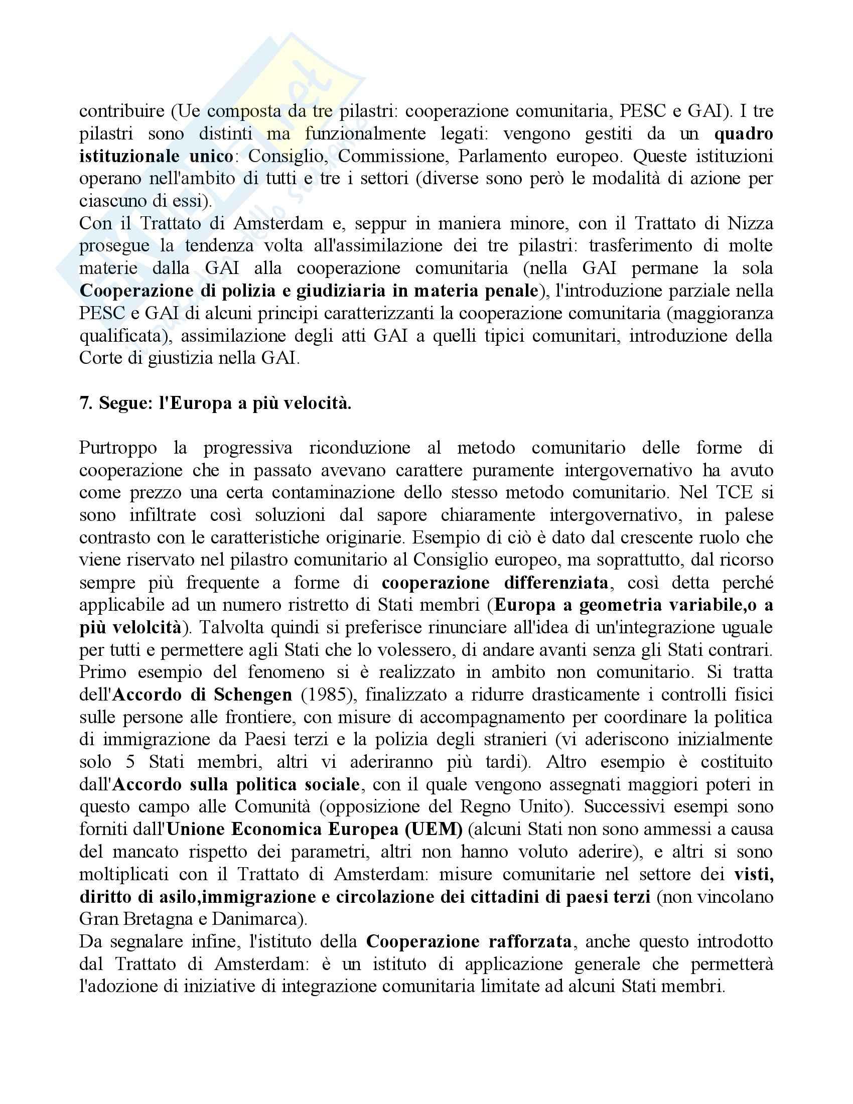 Riassunto esame Diritto dell'Unione Europea, prof. Cortese, libro consigliato Diritto dell'Unione Europea, Daniele Pag. 6