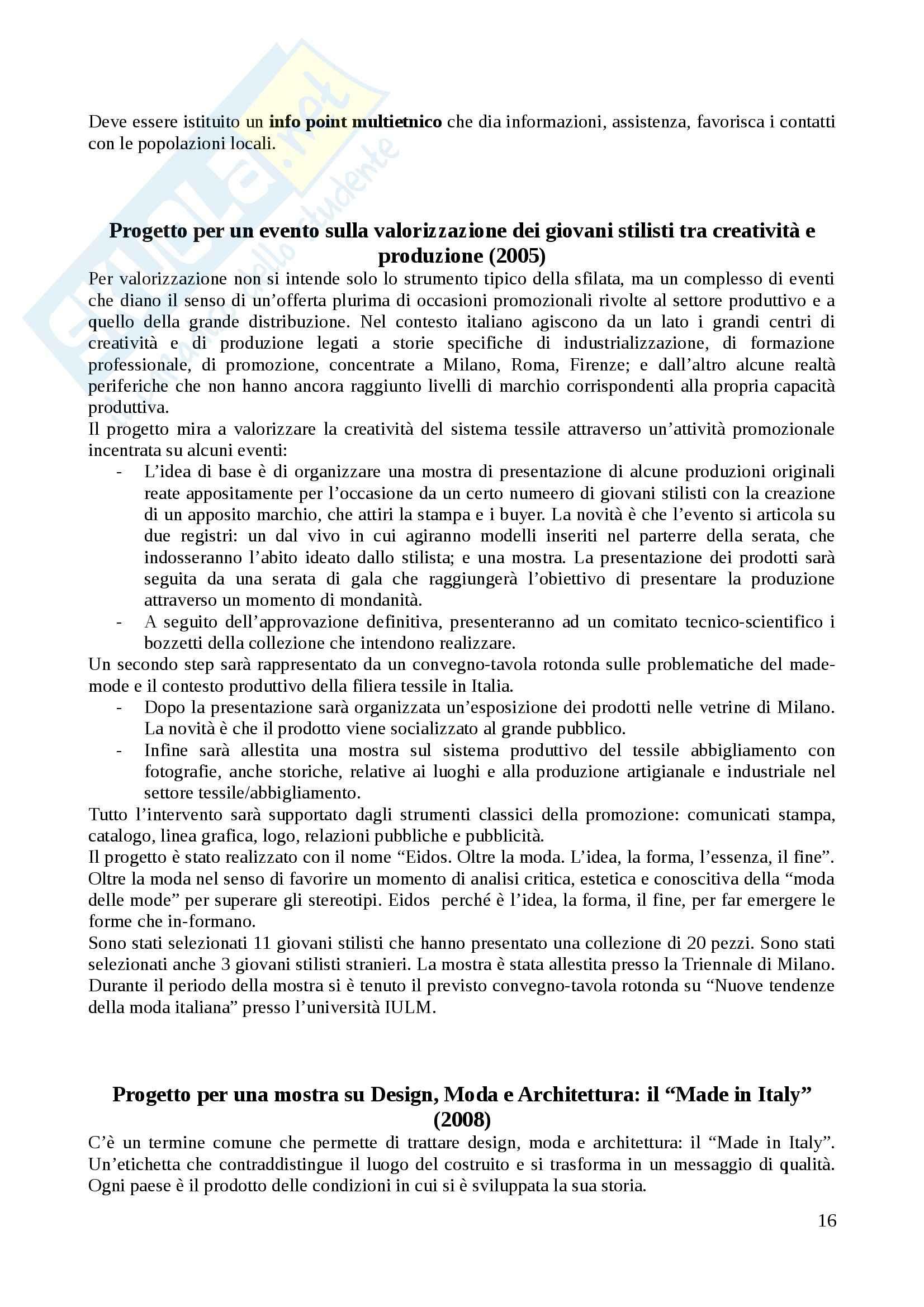 Riassunto esame Organizzazione e gestione degli eventi, prof. Monno, libro consigliato Progetti di cultura, Monno Pag. 16