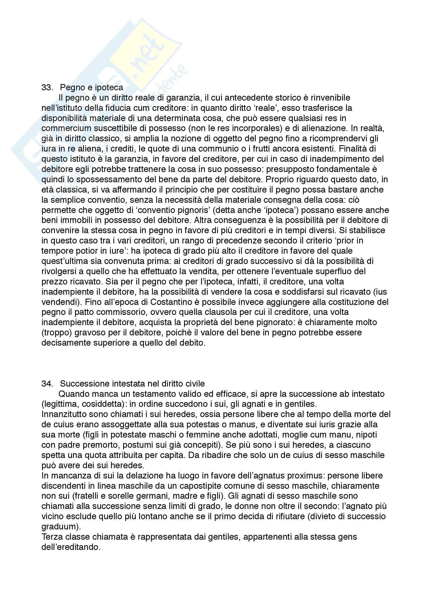 Diritto privato romano - 100 Domande e Risposte - Programma completo - Università di Torino Pag. 16